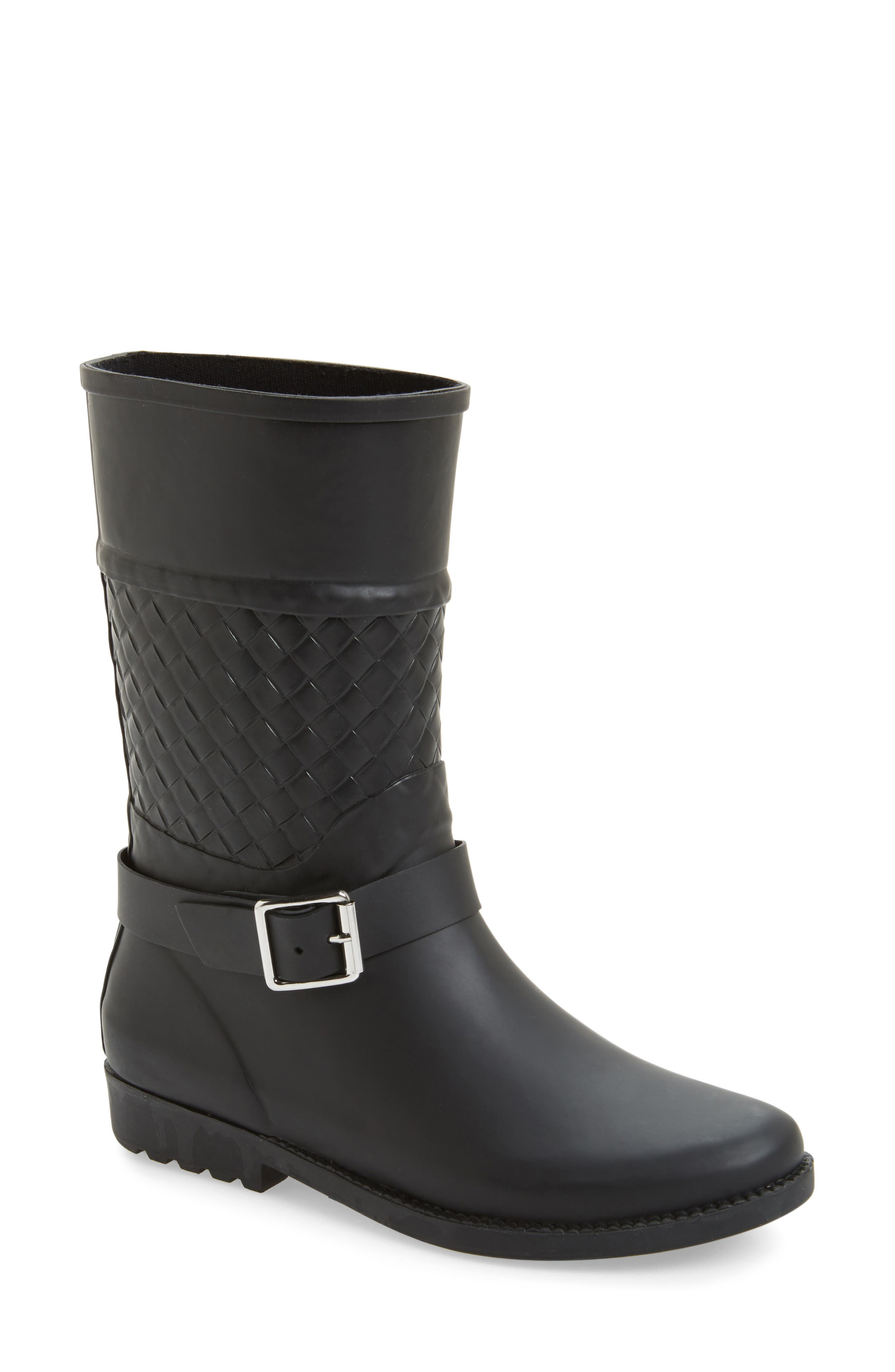 Waterproof Woven Shaft Rain Boot,                             Main thumbnail 1, color,