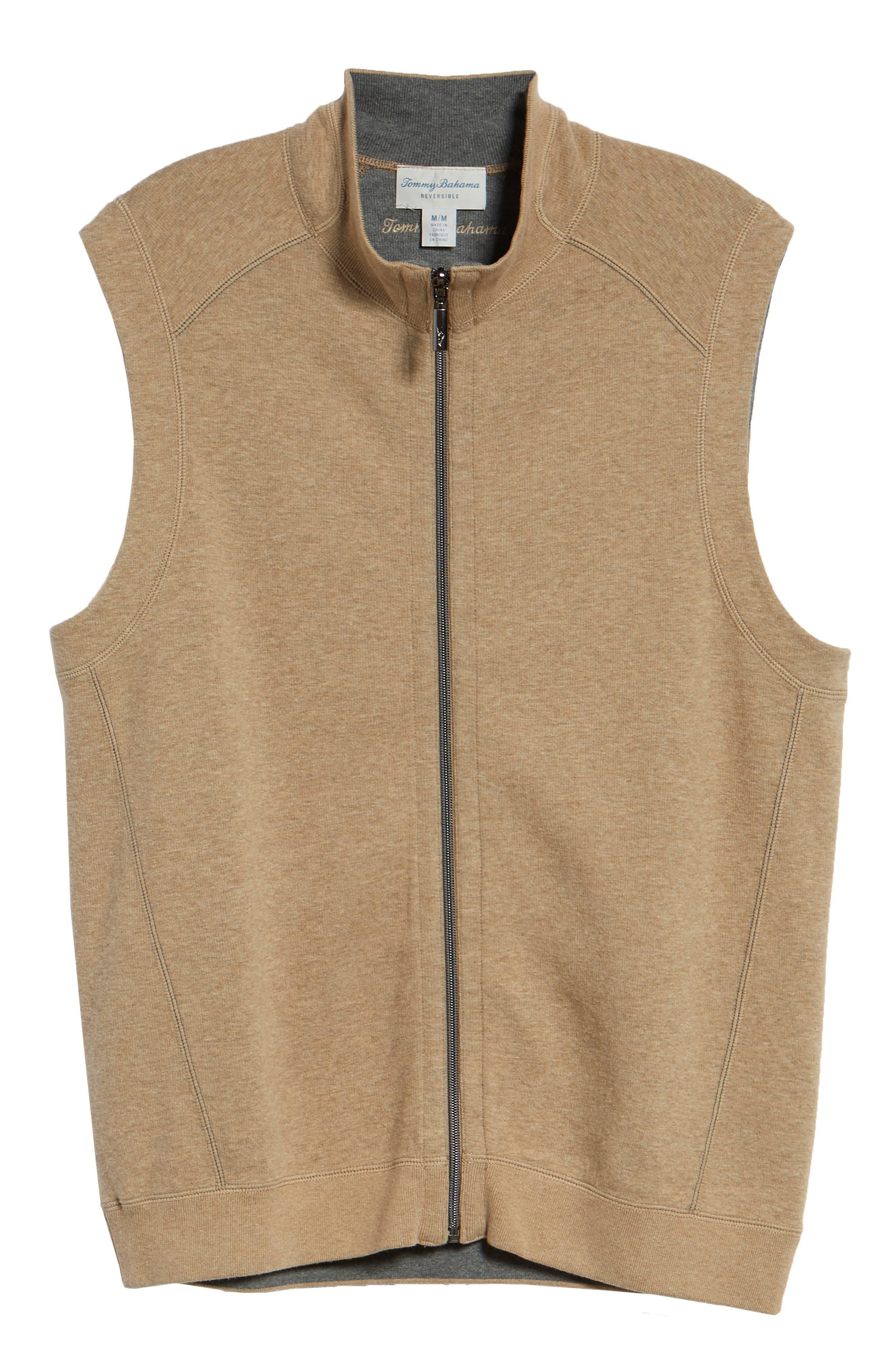 Flip Side Reversible Zip Vest,                             Alternate thumbnail 6, color,                             GOLDEN HONEY HEATHER