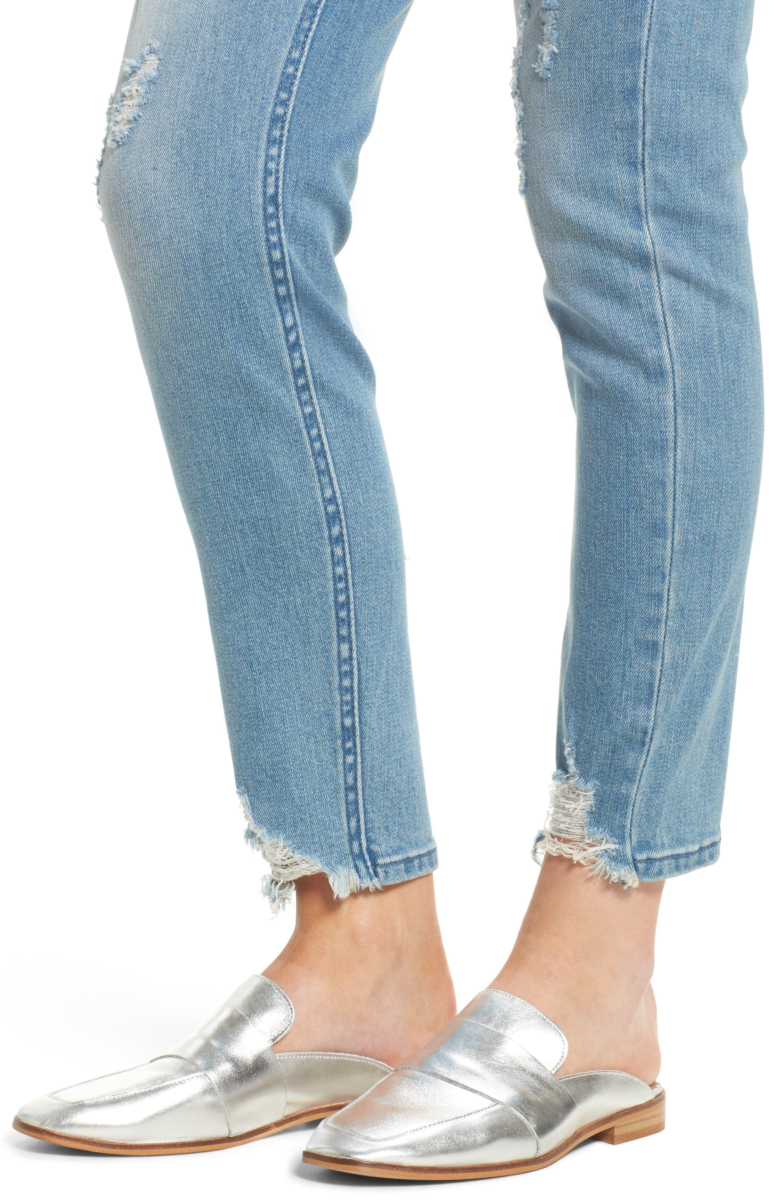 Verona Skinny Jeans,                             Alternate thumbnail 4, color,                             403