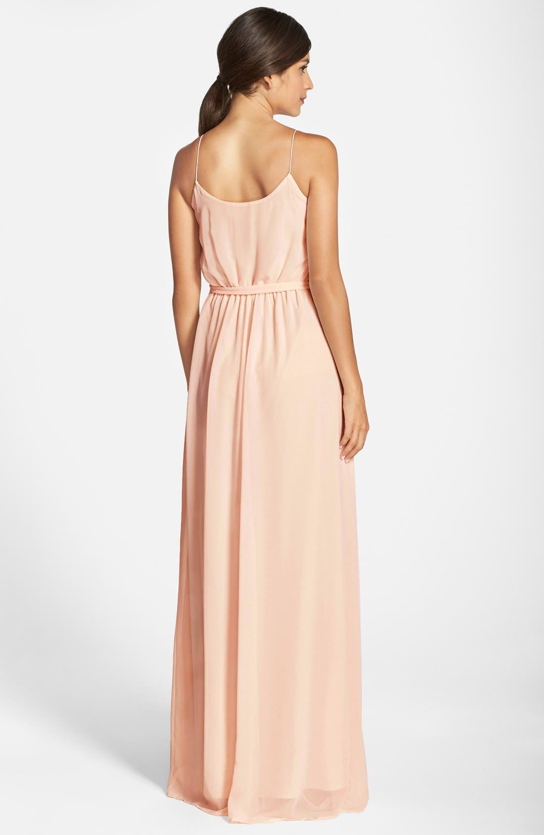 'Drew' Ruffle Front Chiffon Gown,                             Alternate thumbnail 27, color,