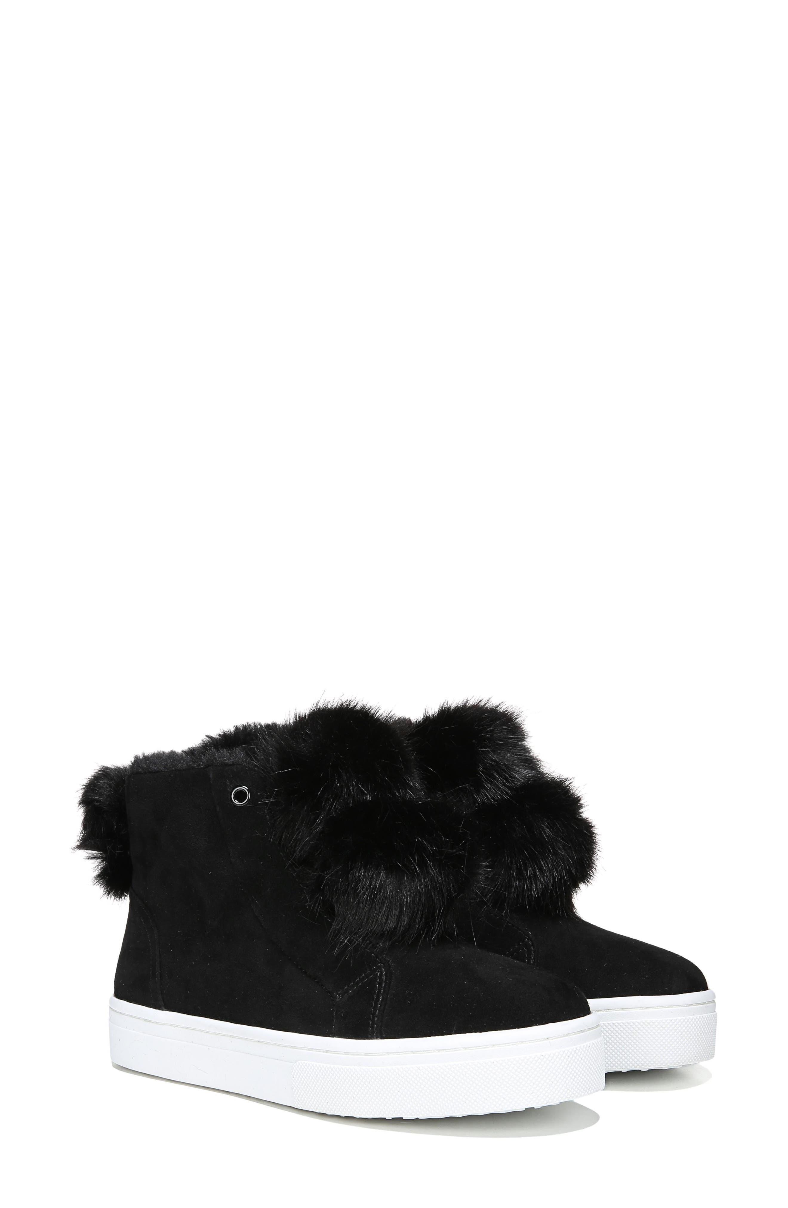 Lear Faux Fur Sneaker,                             Alternate thumbnail 8, color,                             001