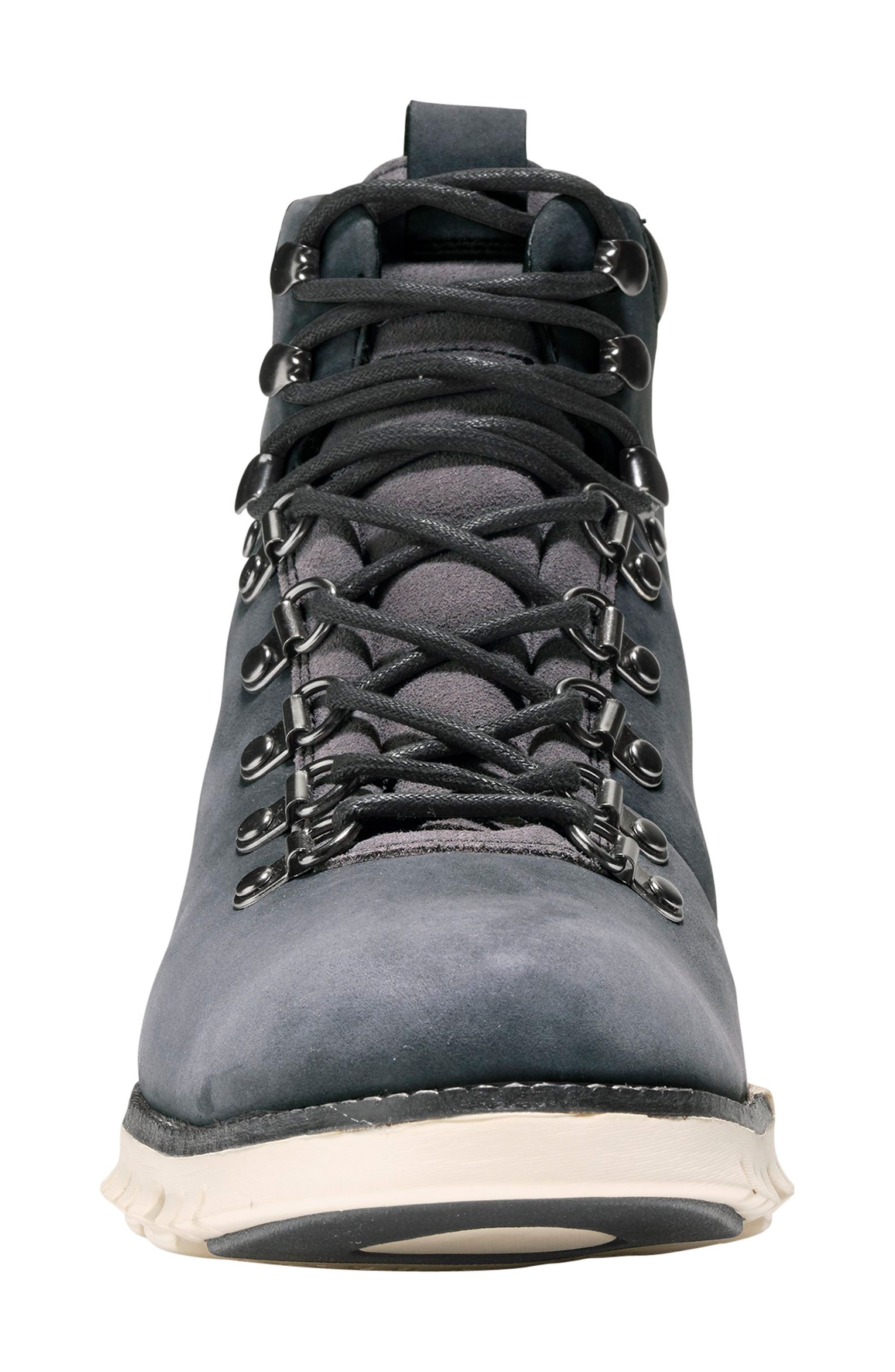 ZeroGrand Water Resistant Hiker Boot,                             Alternate thumbnail 4, color,                             GREY/ IVY LEATHER