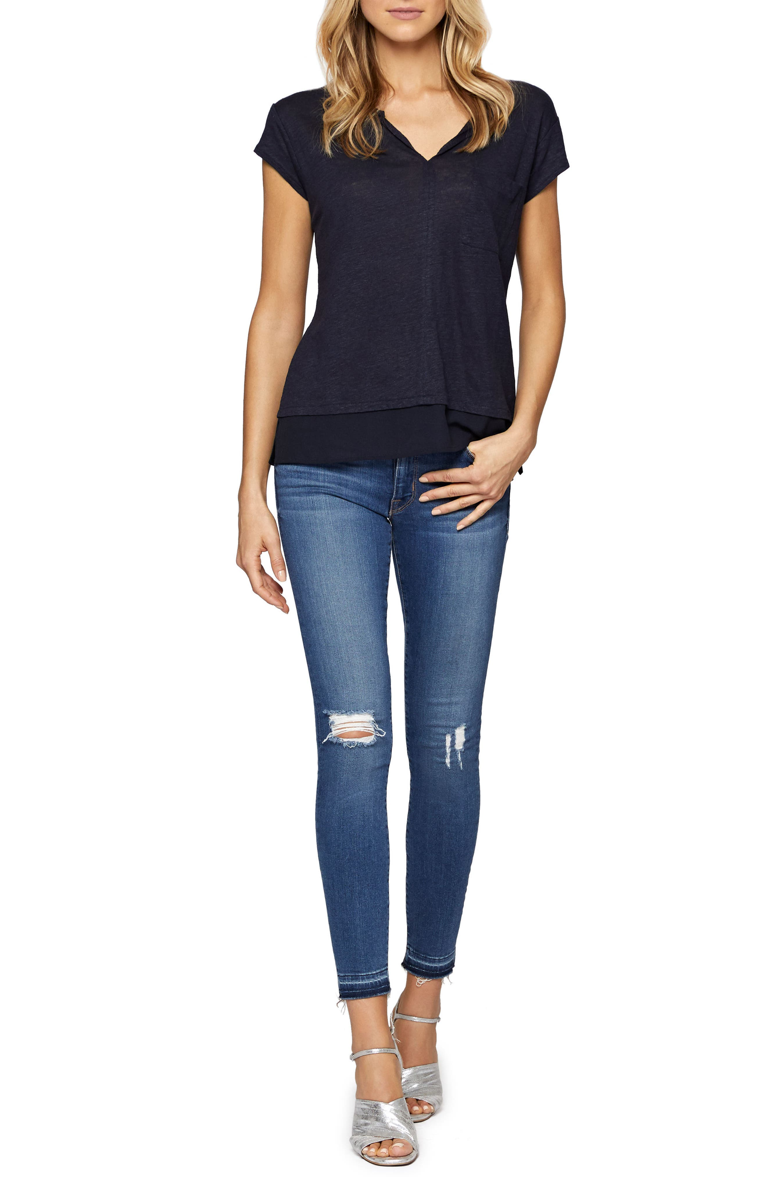 City Mix Layered Look Tee,                             Alternate thumbnail 54, color,