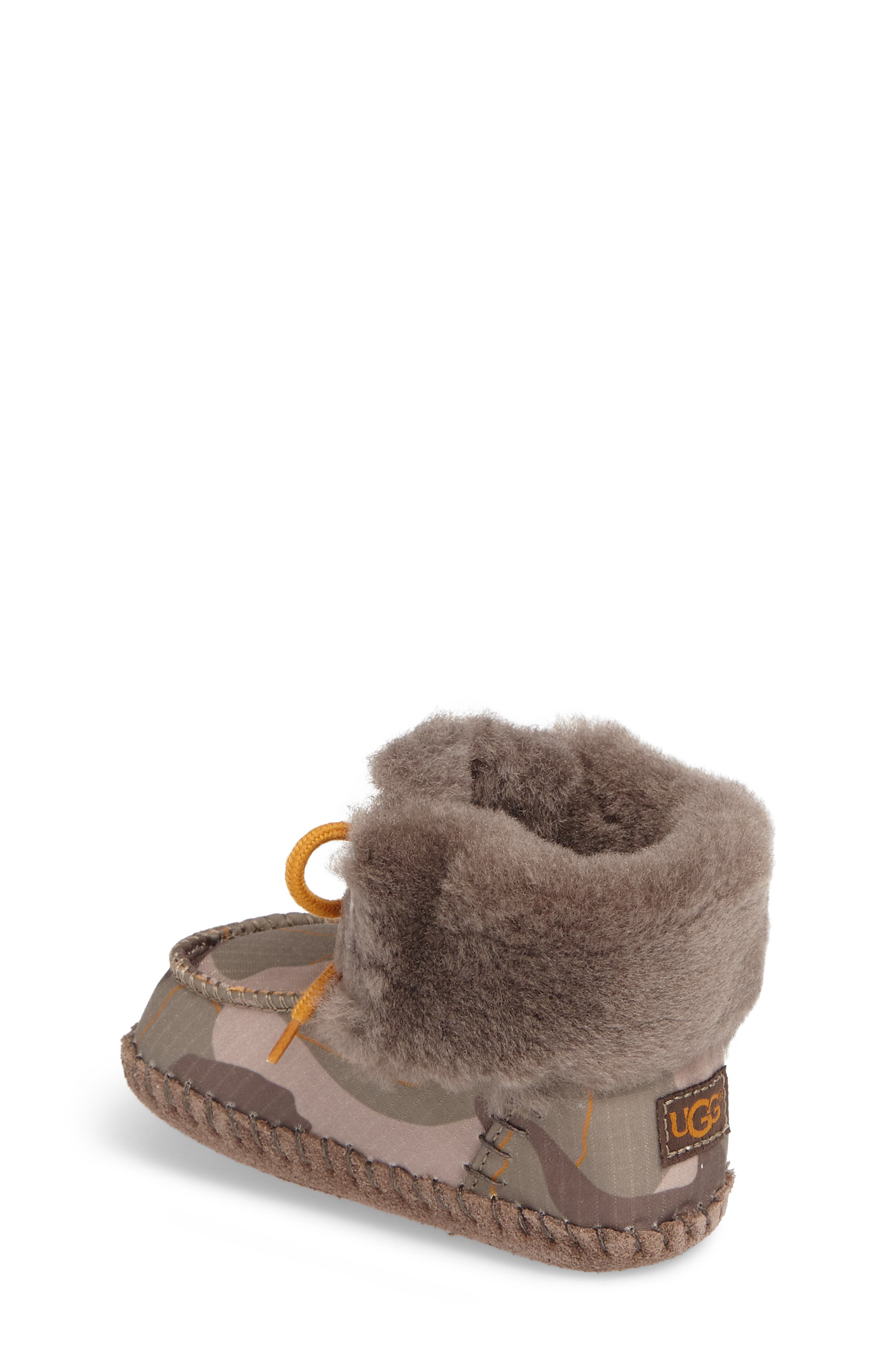 Sparrow Camo Genuine Shearling Moccasin Bootie,                             Alternate thumbnail 2, color,                             020