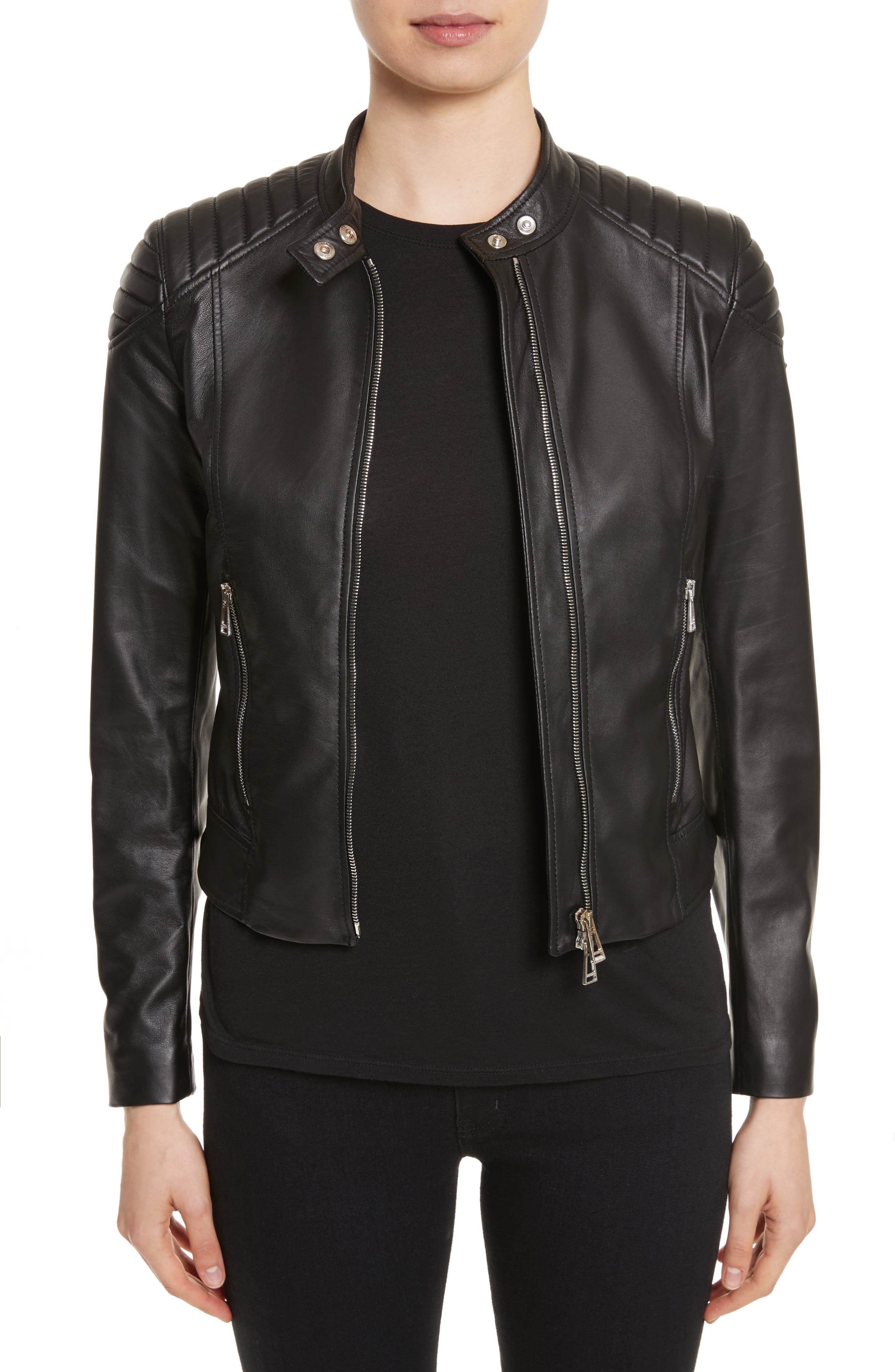 Mollison Leather Moto Jacket,                             Main thumbnail 2, color,