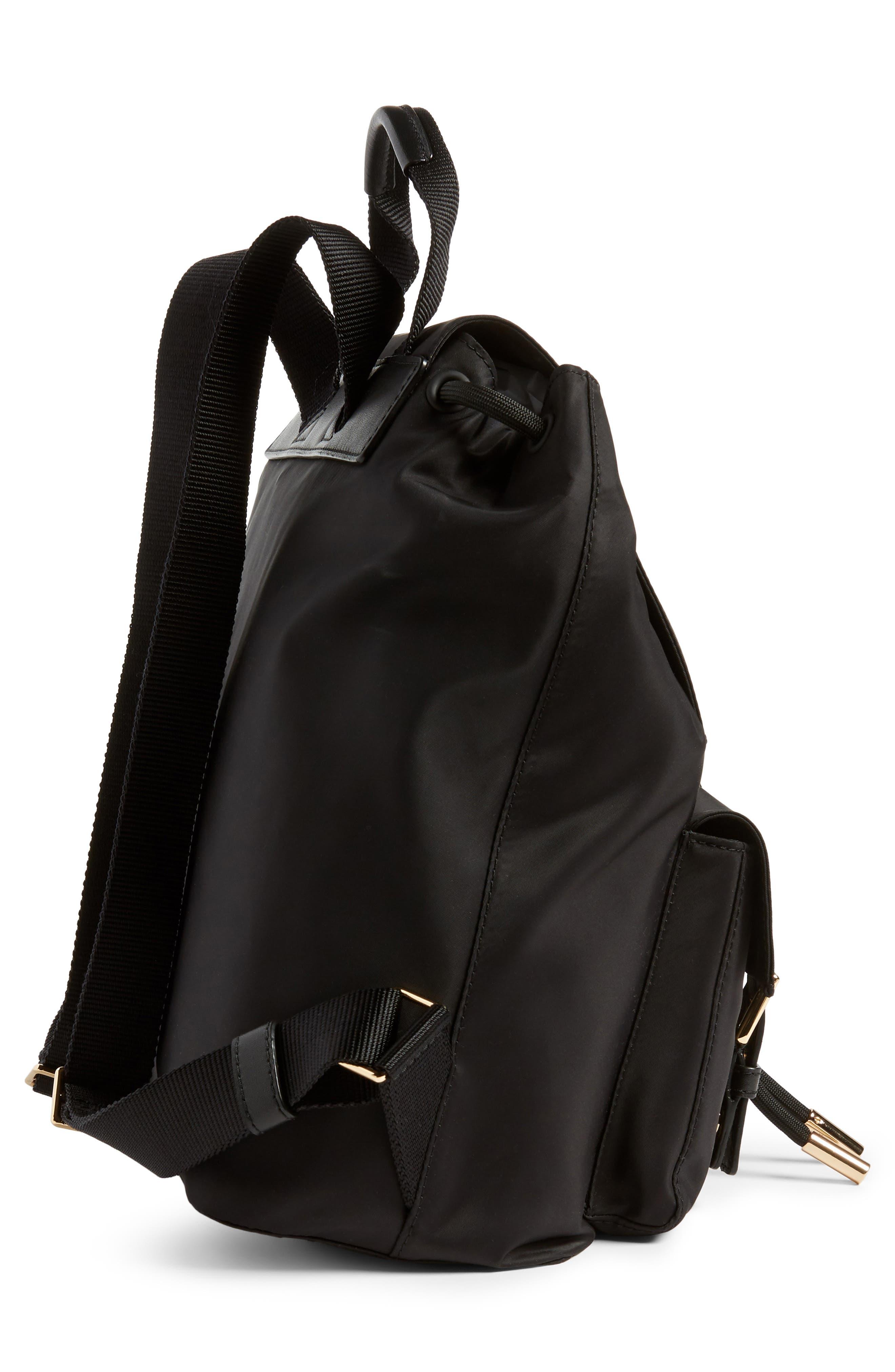 Tilda Nylon Backpack,                             Alternate thumbnail 5, color,                             BLACK