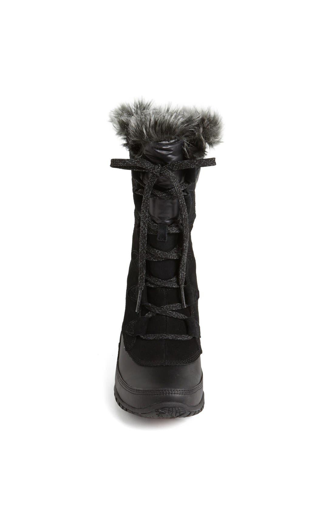 'Nuptse Purna' Waterproof PrimaLoft<sup>®</sup> Eco Insulated Winter Boot,                             Alternate thumbnail 3, color,                             001