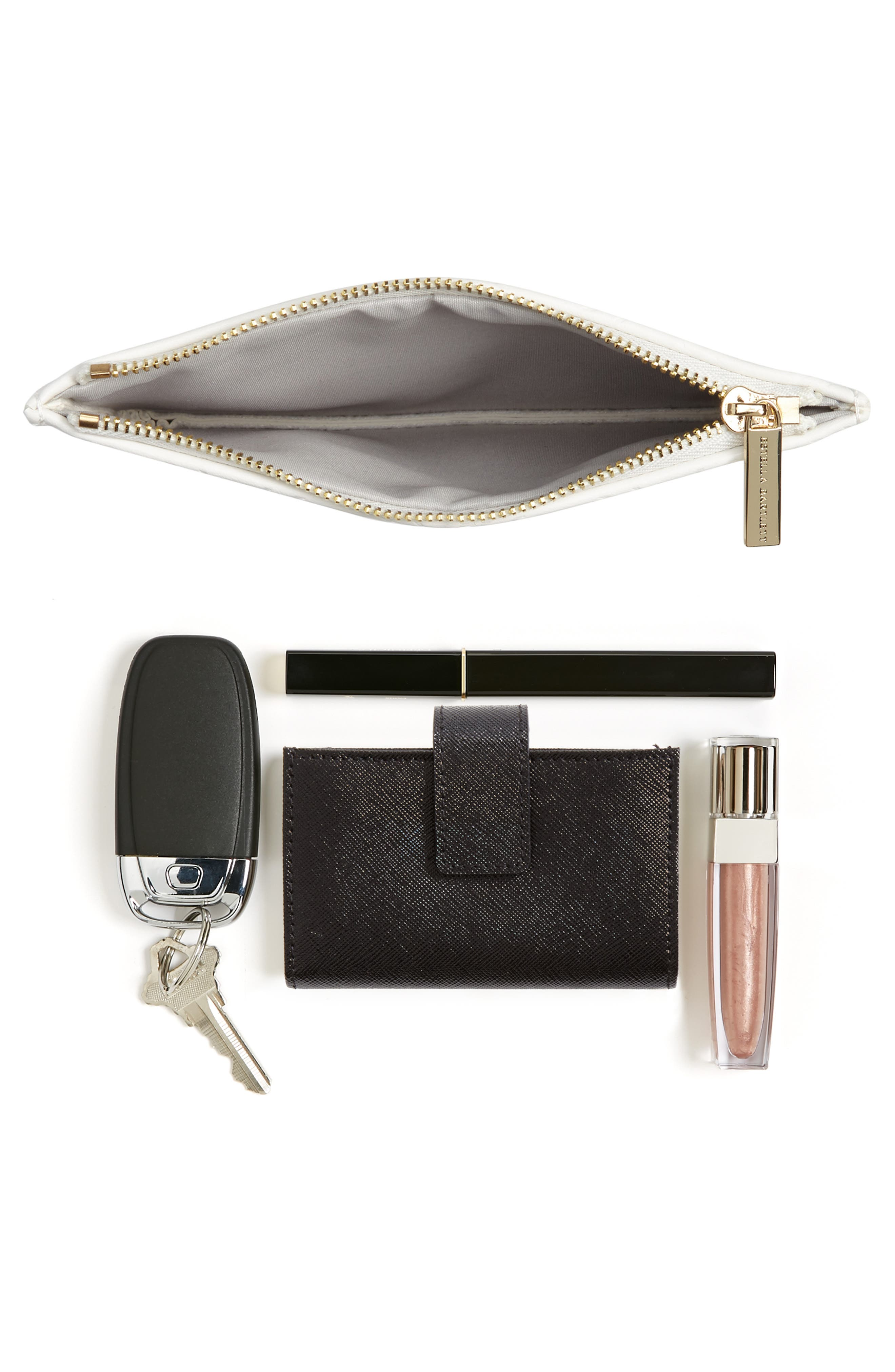 Small Embossed Faux Leather Pouch,                             Alternate thumbnail 7, color,                             900