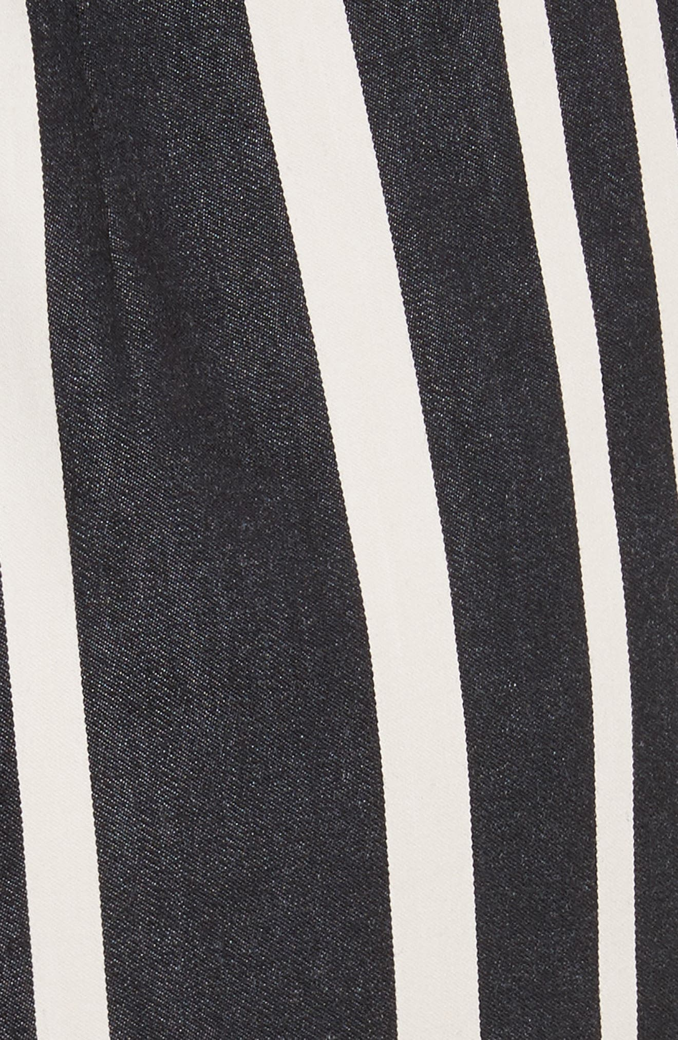 Sabeen Ruffle Stripe Crop Jumpsuit,                             Alternate thumbnail 5, color,                             009