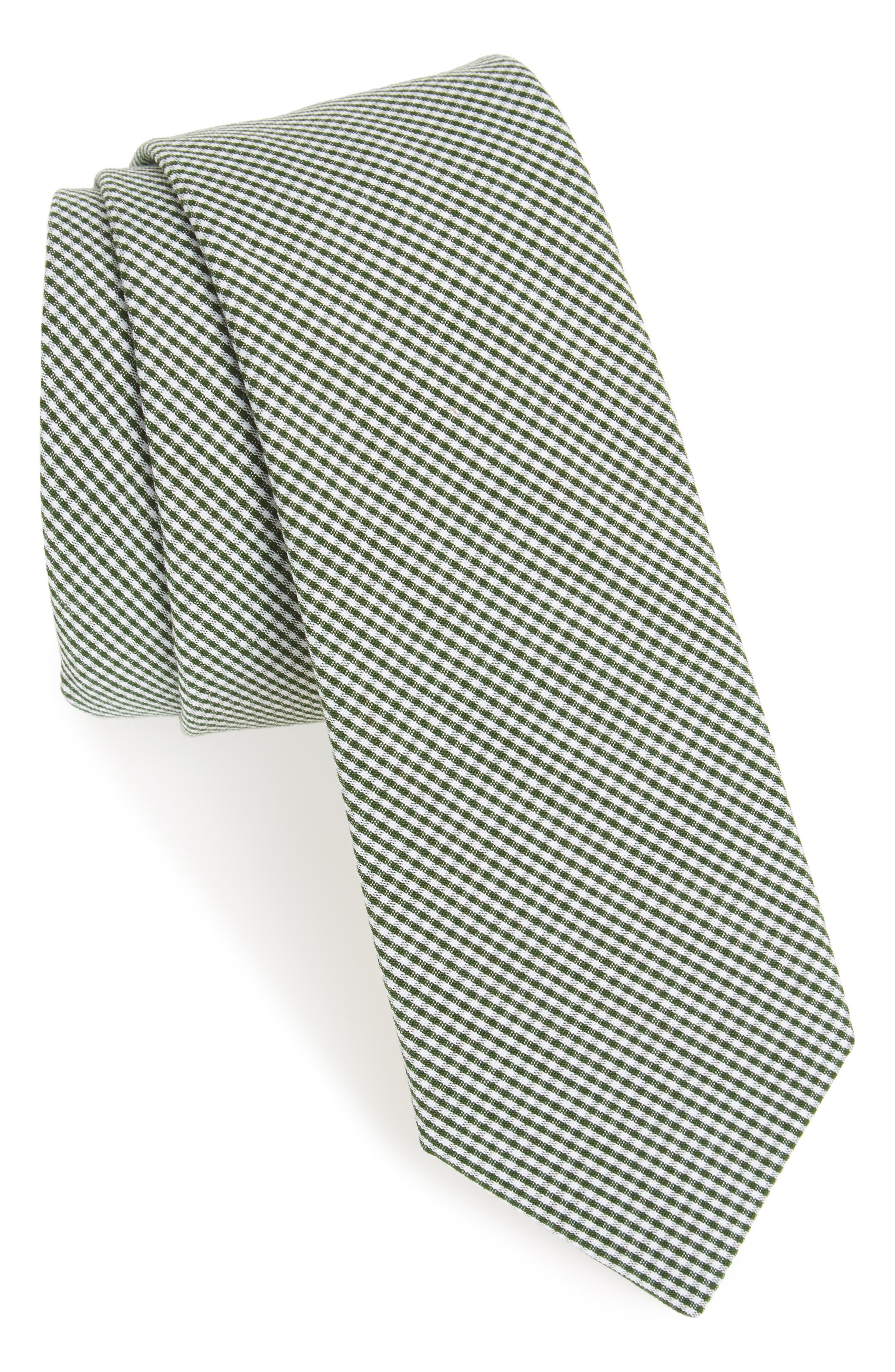 Check Cotton Tie,                             Main thumbnail 2, color,