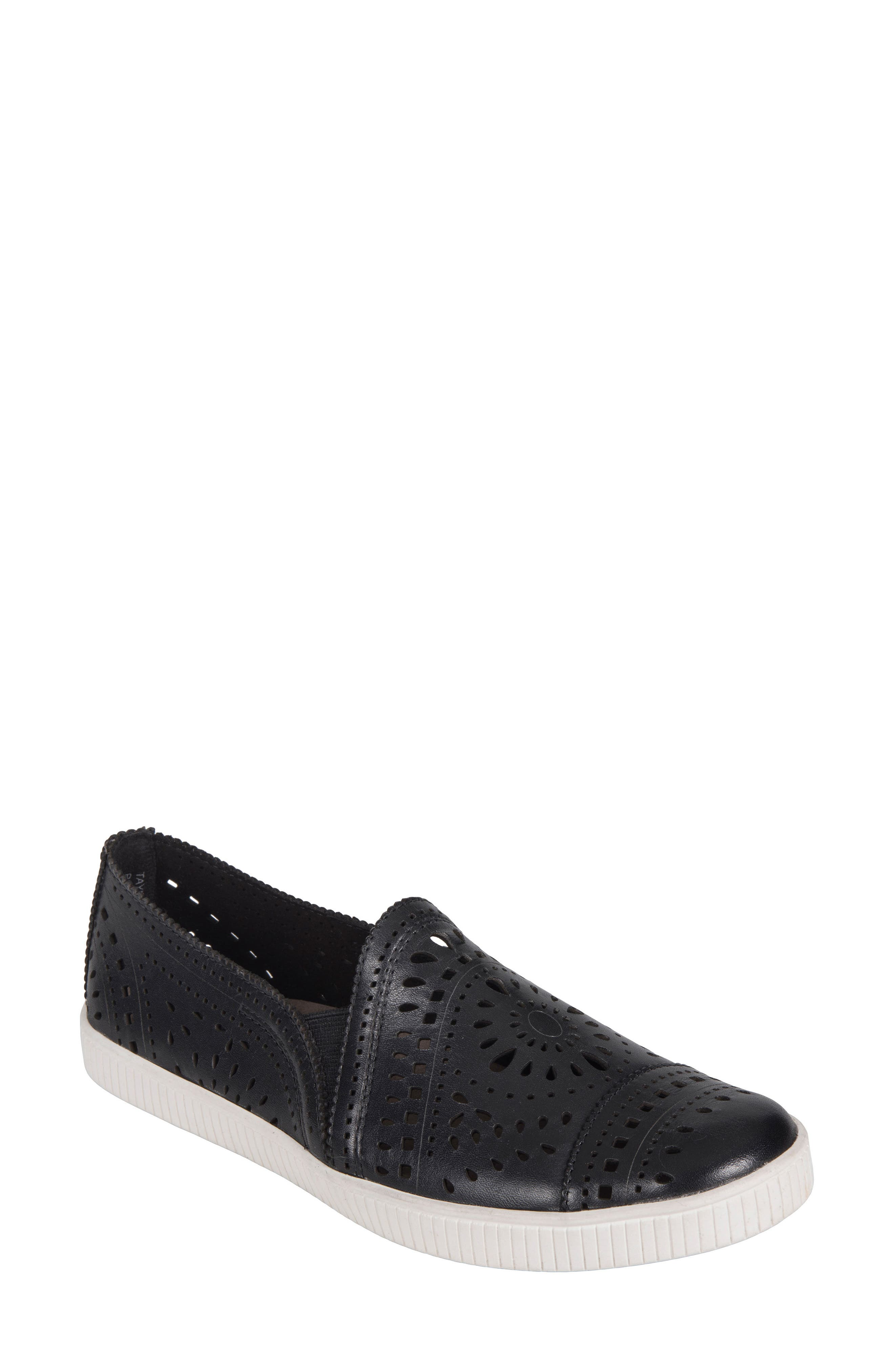 Tayberry Perforated Slip-On Sneaker,                             Main thumbnail 1, color,                             001