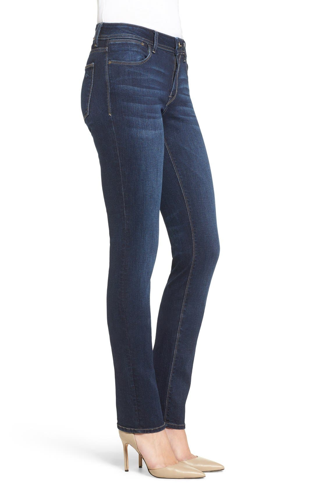 'Coco' Curvy Slim Straight Leg Jeans,                             Alternate thumbnail 8, color,