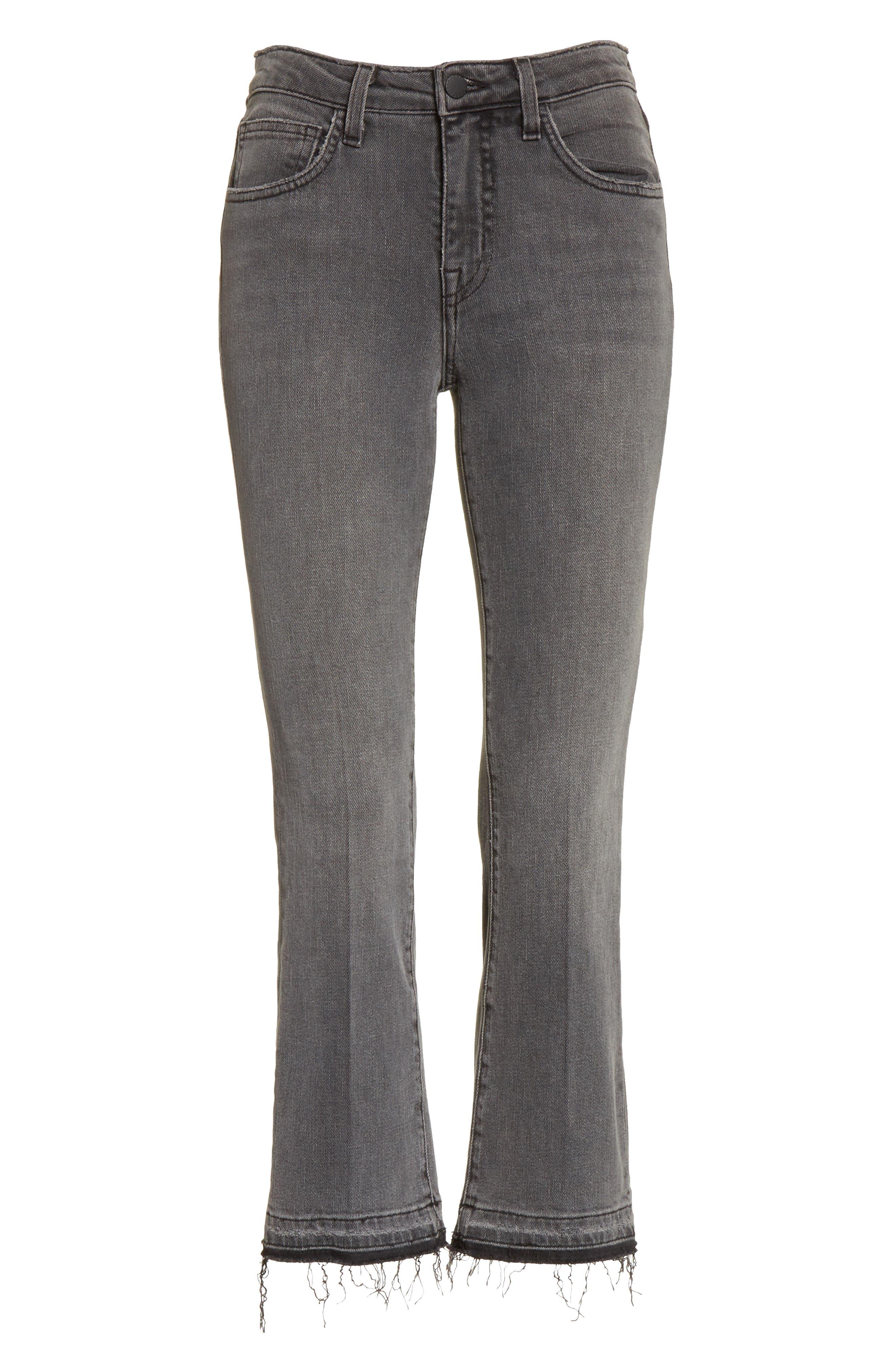 Serena High Waist Crop Flare Jeans,                             Alternate thumbnail 6, color,