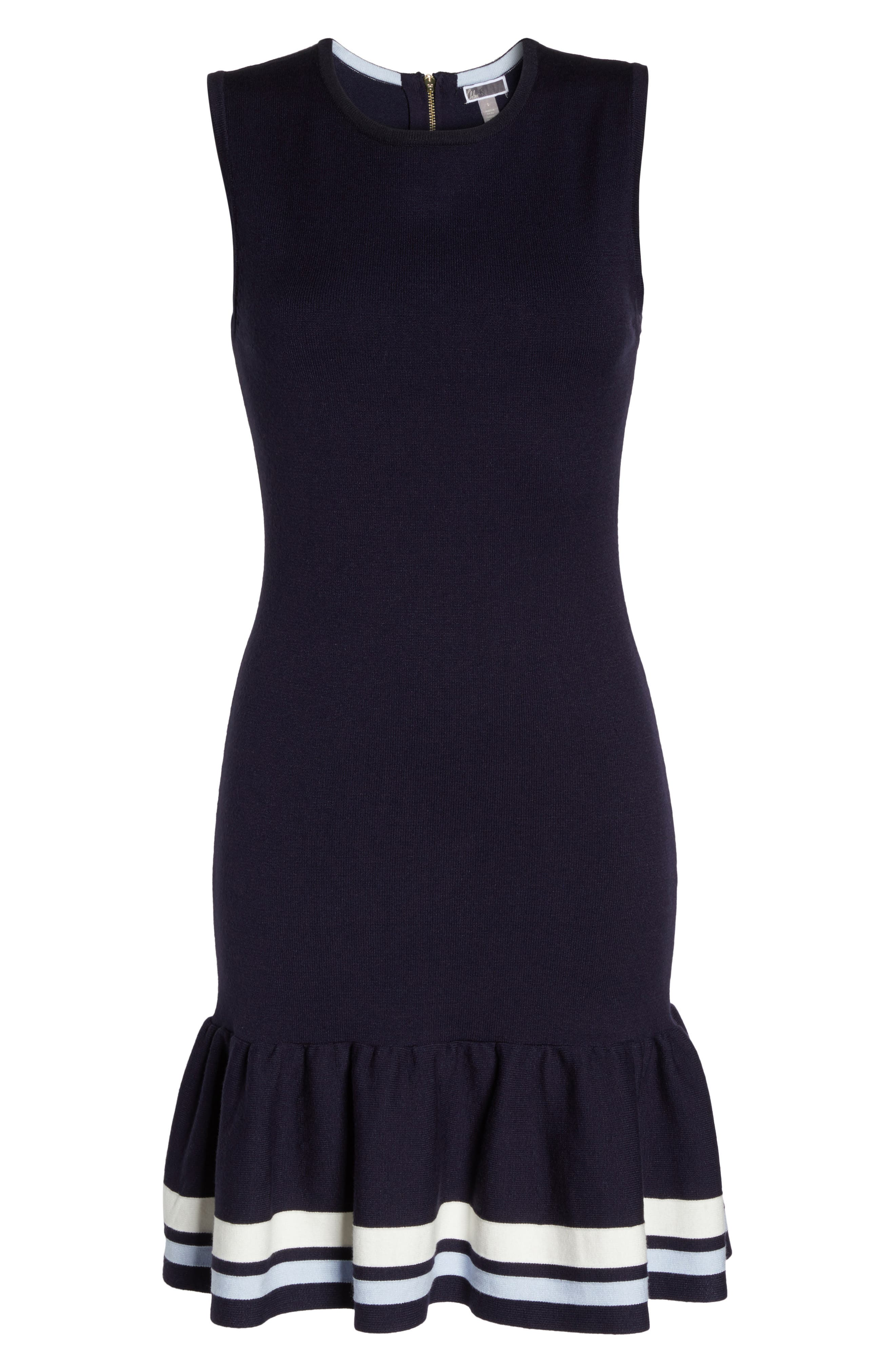 Peplum Hem Sweater Dress,                             Alternate thumbnail 6, color,                             410