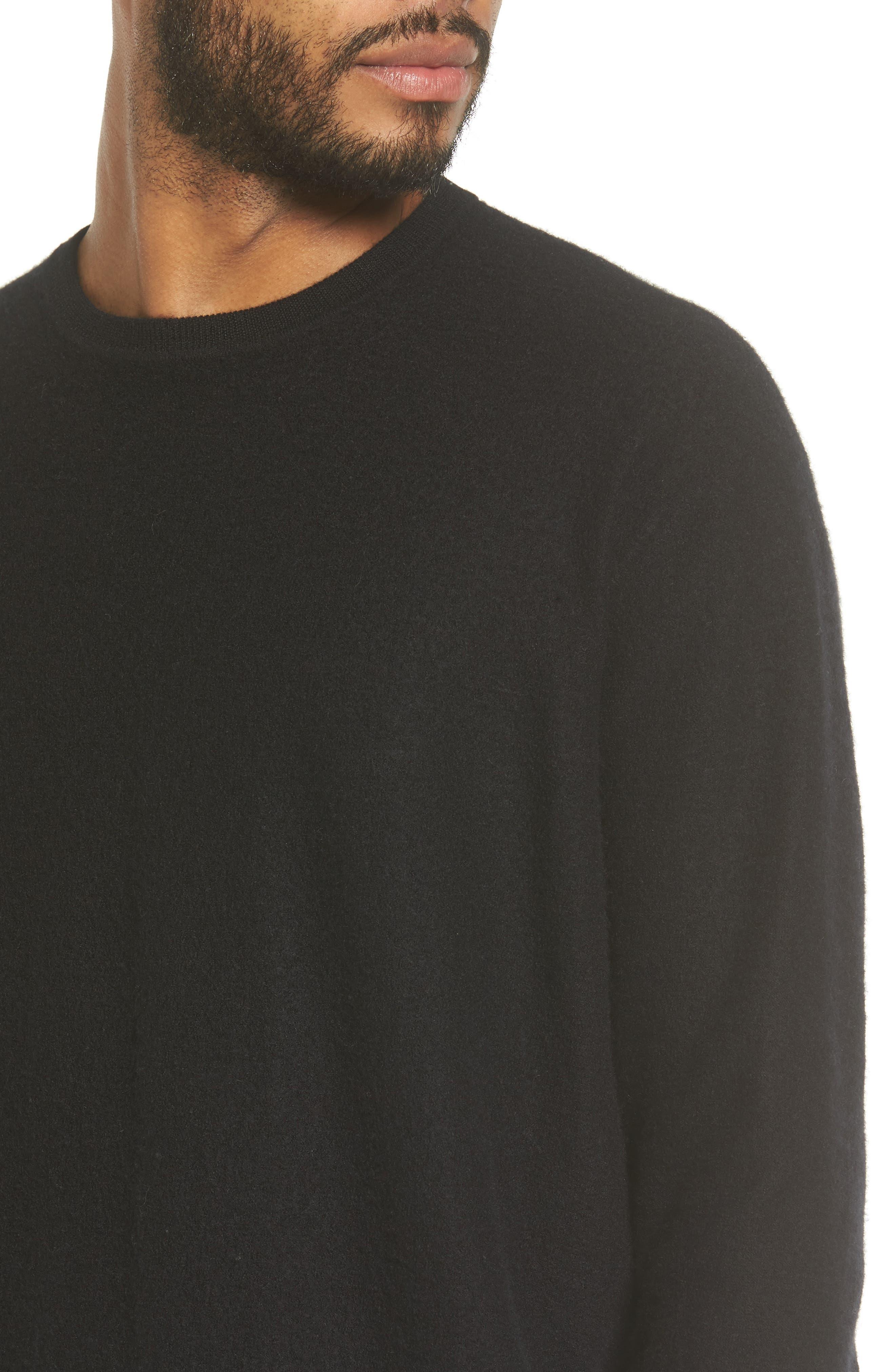 Cashmere Crewneck Sweater,                             Alternate thumbnail 4, color,                             001