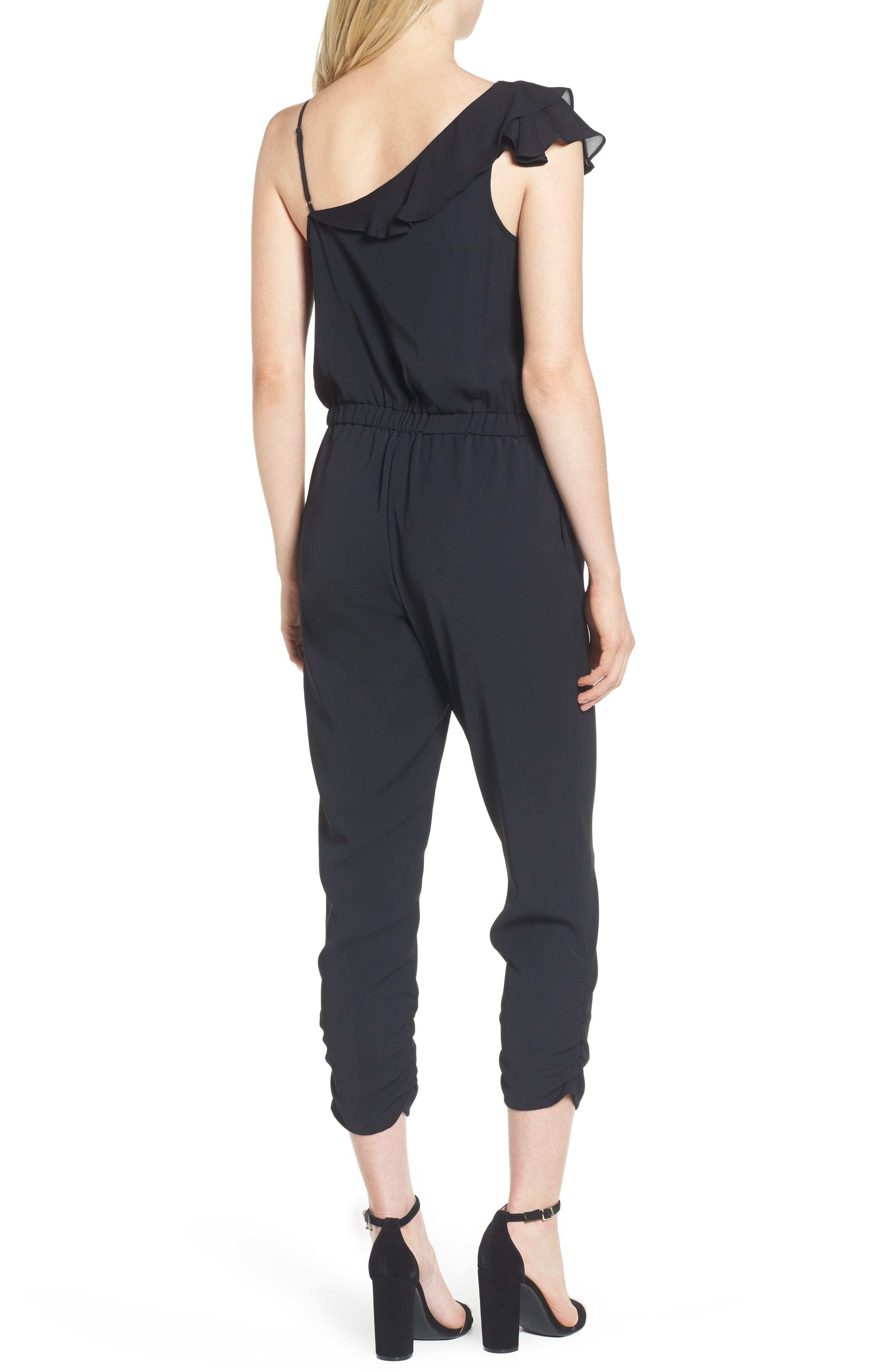 Addison Asymmetrical Jumpsuit,                             Alternate thumbnail 2, color,                             001