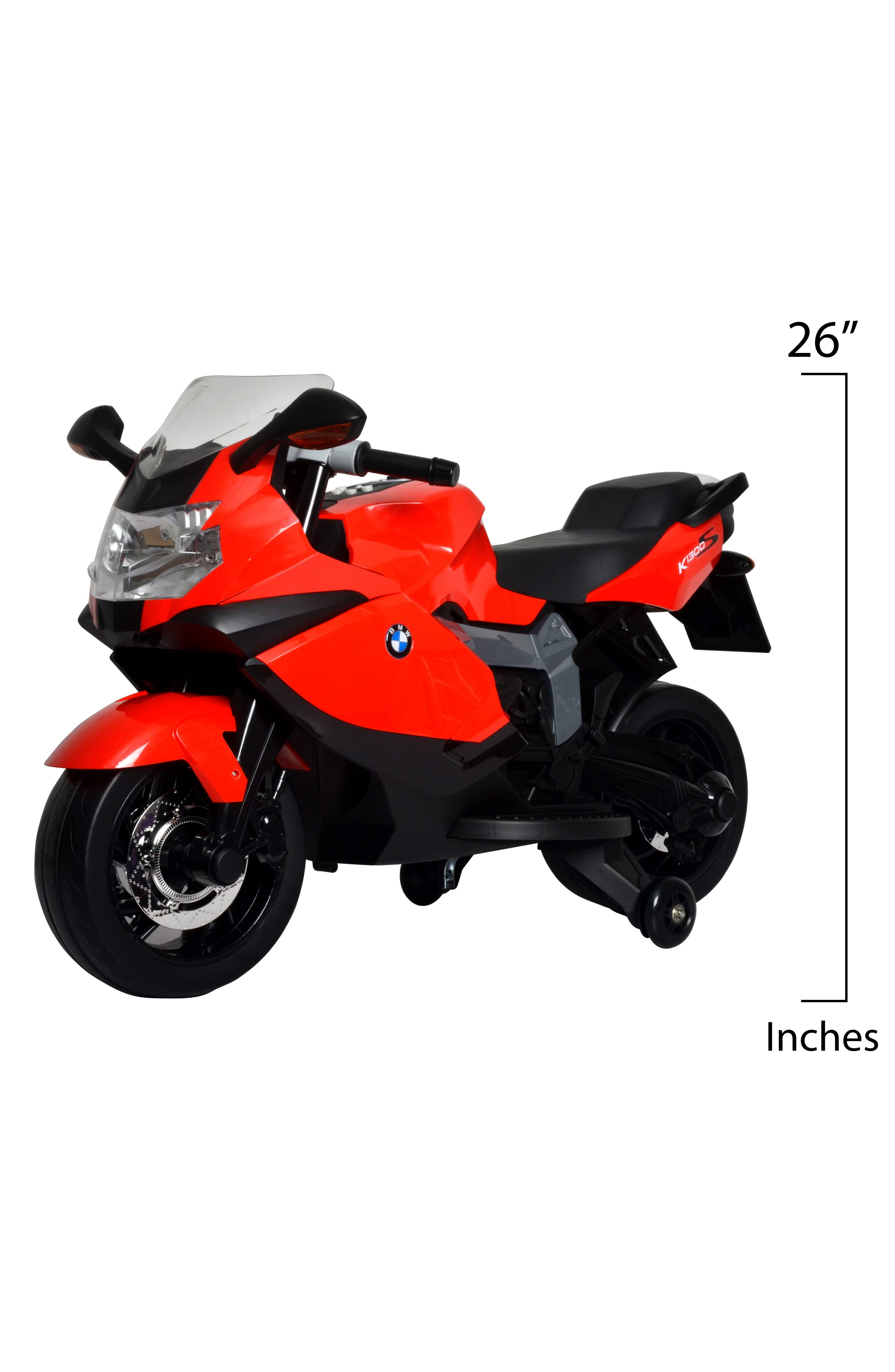 BEST RIDE ON CARS,                             BMW Ride-On Toy Motorcycle,                             Alternate thumbnail 2, color,                             RED