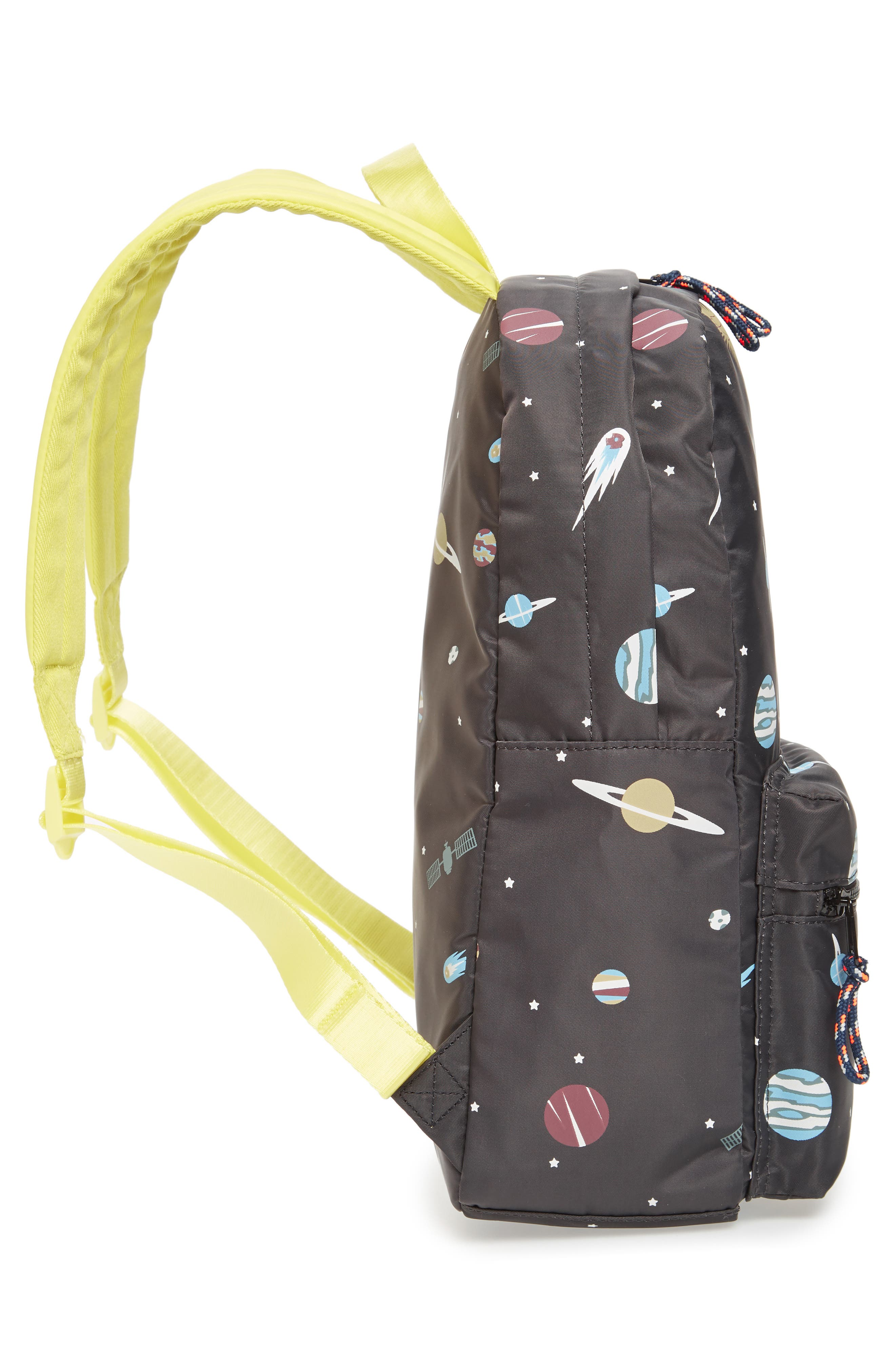 Glow in the Dark Space Print Backpack,                             Alternate thumbnail 4, color,