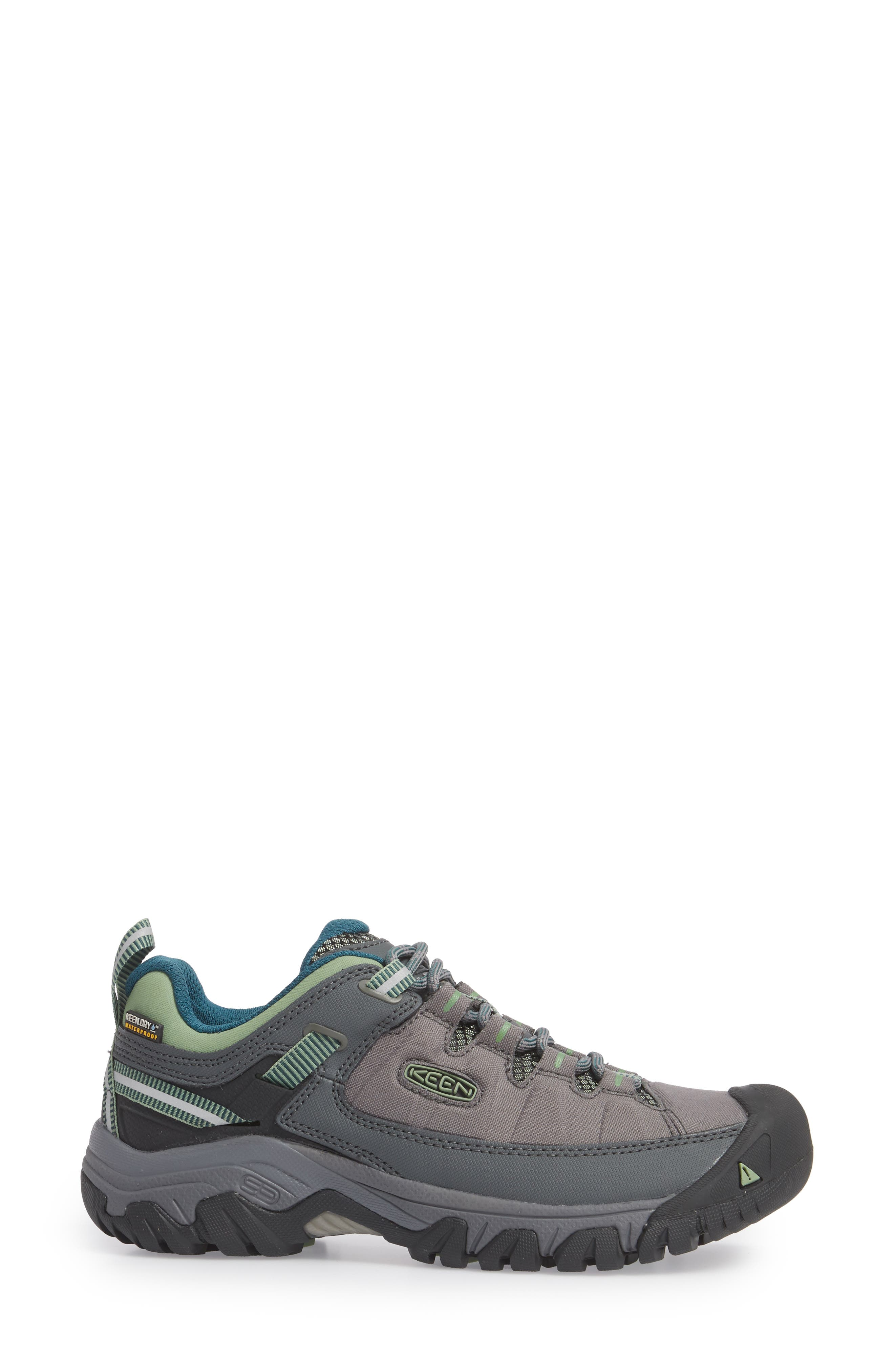 Targhee EXP Waterproof Hiking Shoe,                             Alternate thumbnail 3, color,                             STEEL GREY/ BASIL