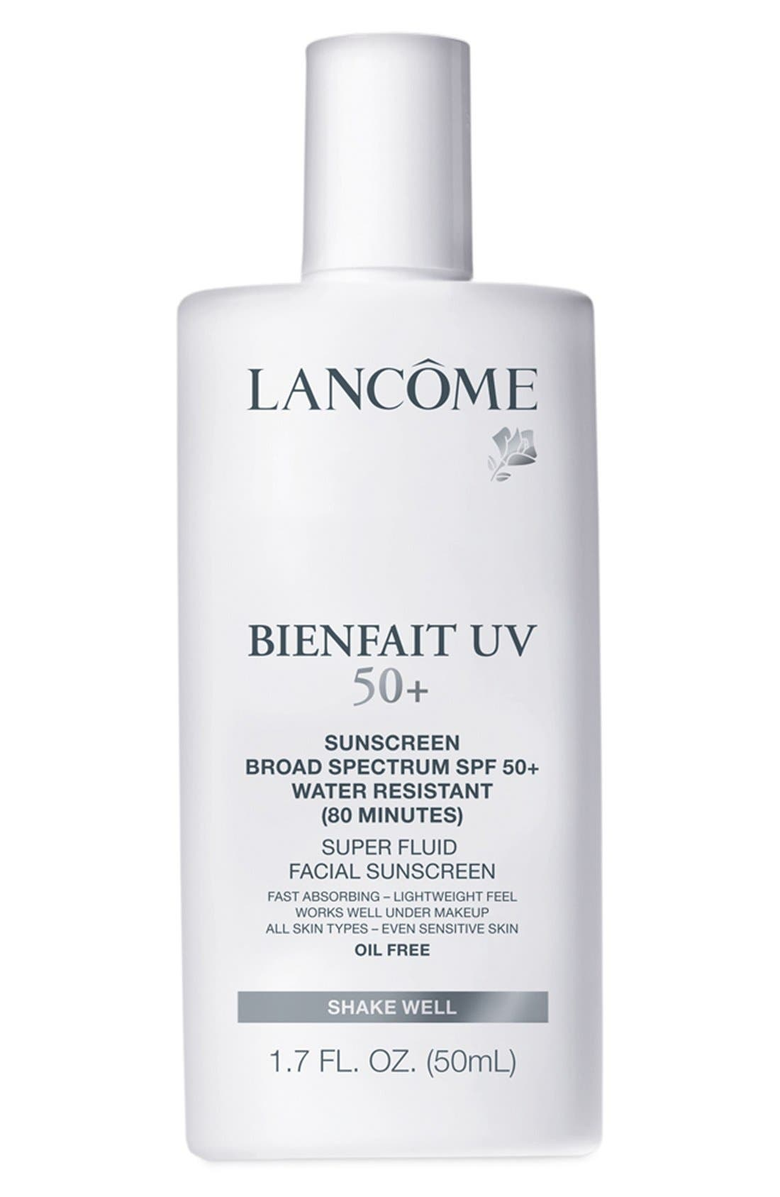 Bienfait UV Super Fluid Facial Sunscreen SPF 50+,                             Main thumbnail 1, color,                             000