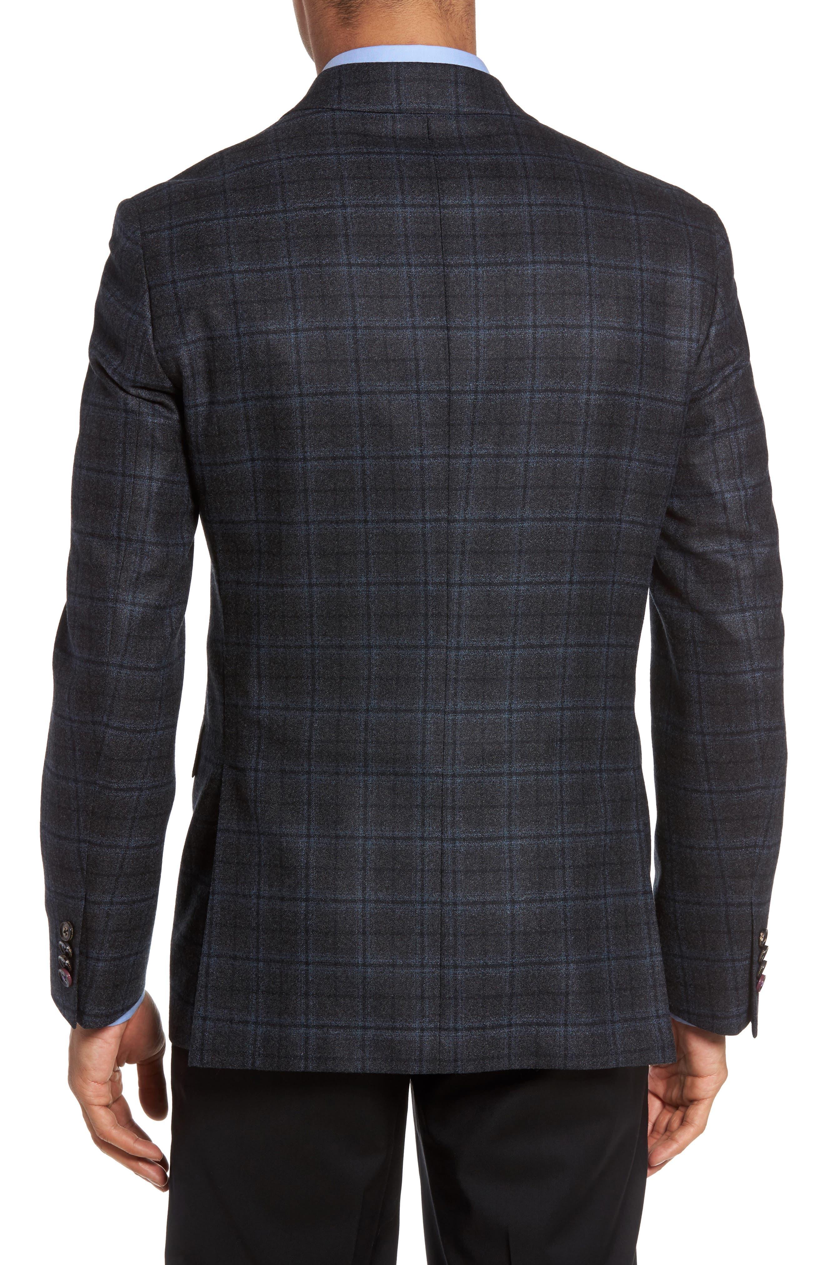 Konan Trim Fit Plaid Wool Sport Coat,                             Alternate thumbnail 2, color,                             020