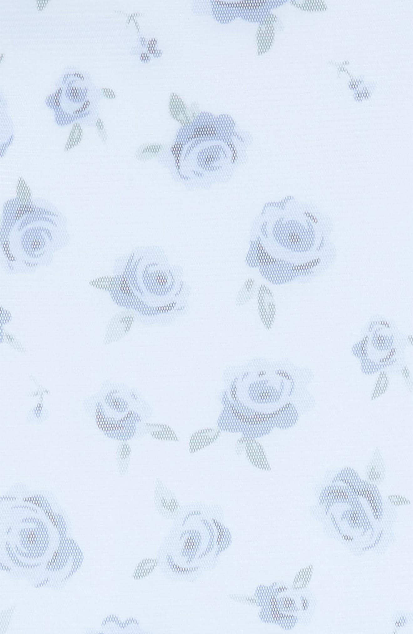 Floral Print Mesh Dress,                             Alternate thumbnail 3, color,                             450