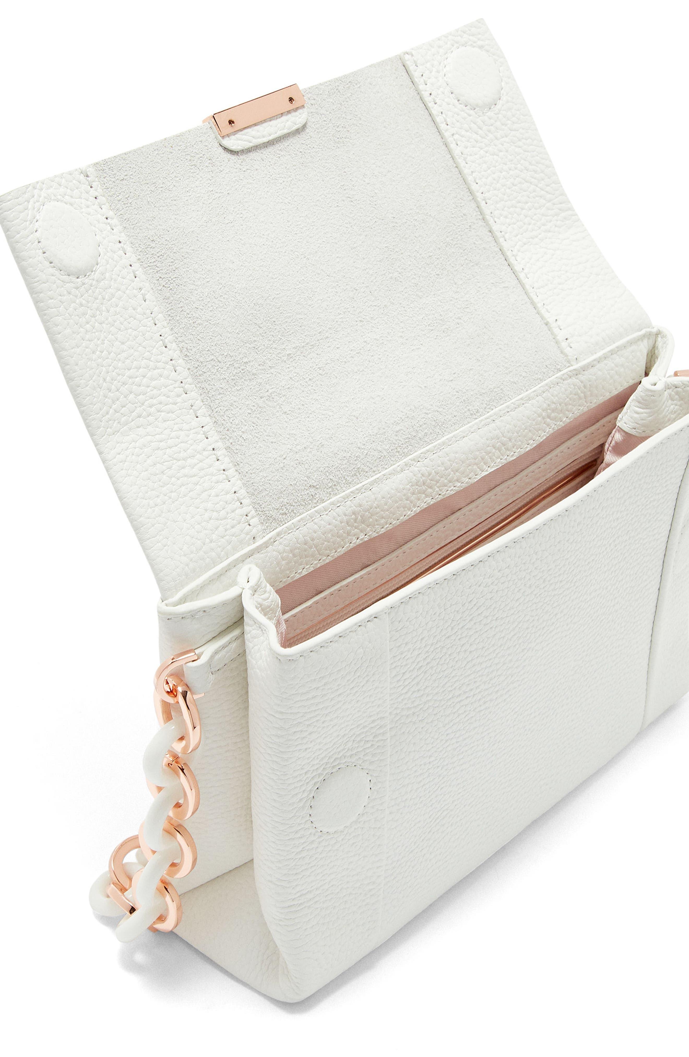 Ipomoea Leather Shoulder Bag,                             Alternate thumbnail 8, color,