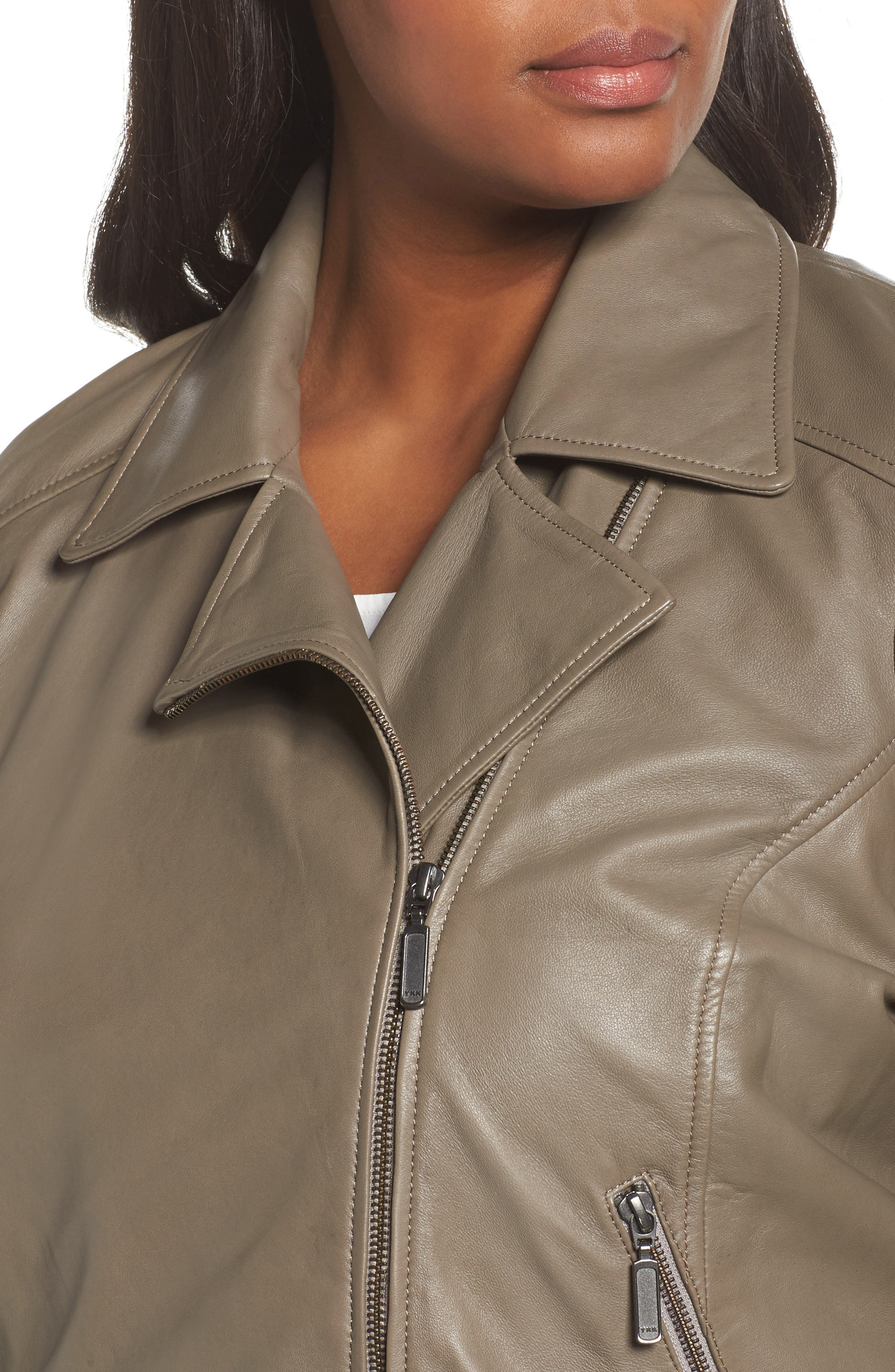 Leather Moto Jacket,                             Alternate thumbnail 10, color,