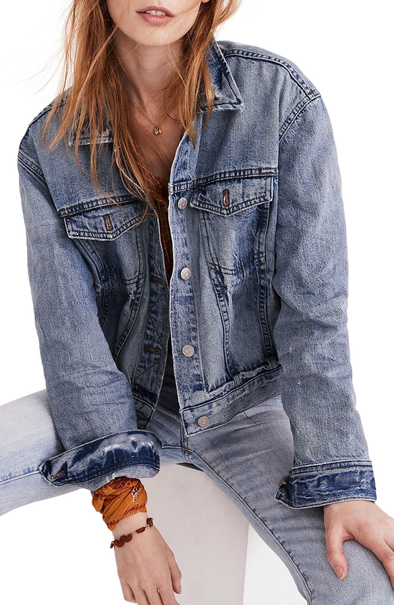 MADEWELL Boxy Crop Jean Jacket, Main, color, 400
