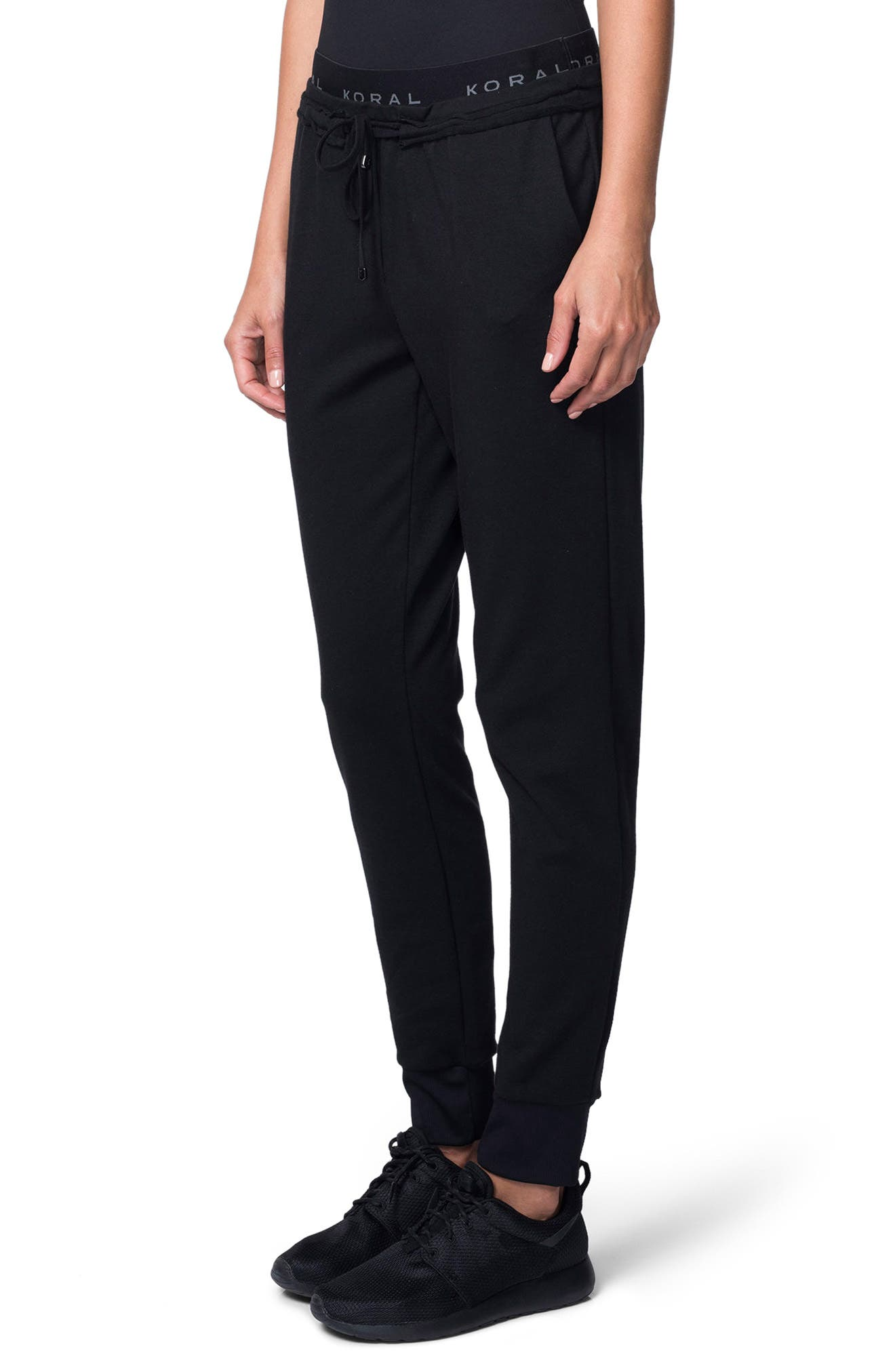 Station French Terry Pants,                             Alternate thumbnail 3, color,                             001