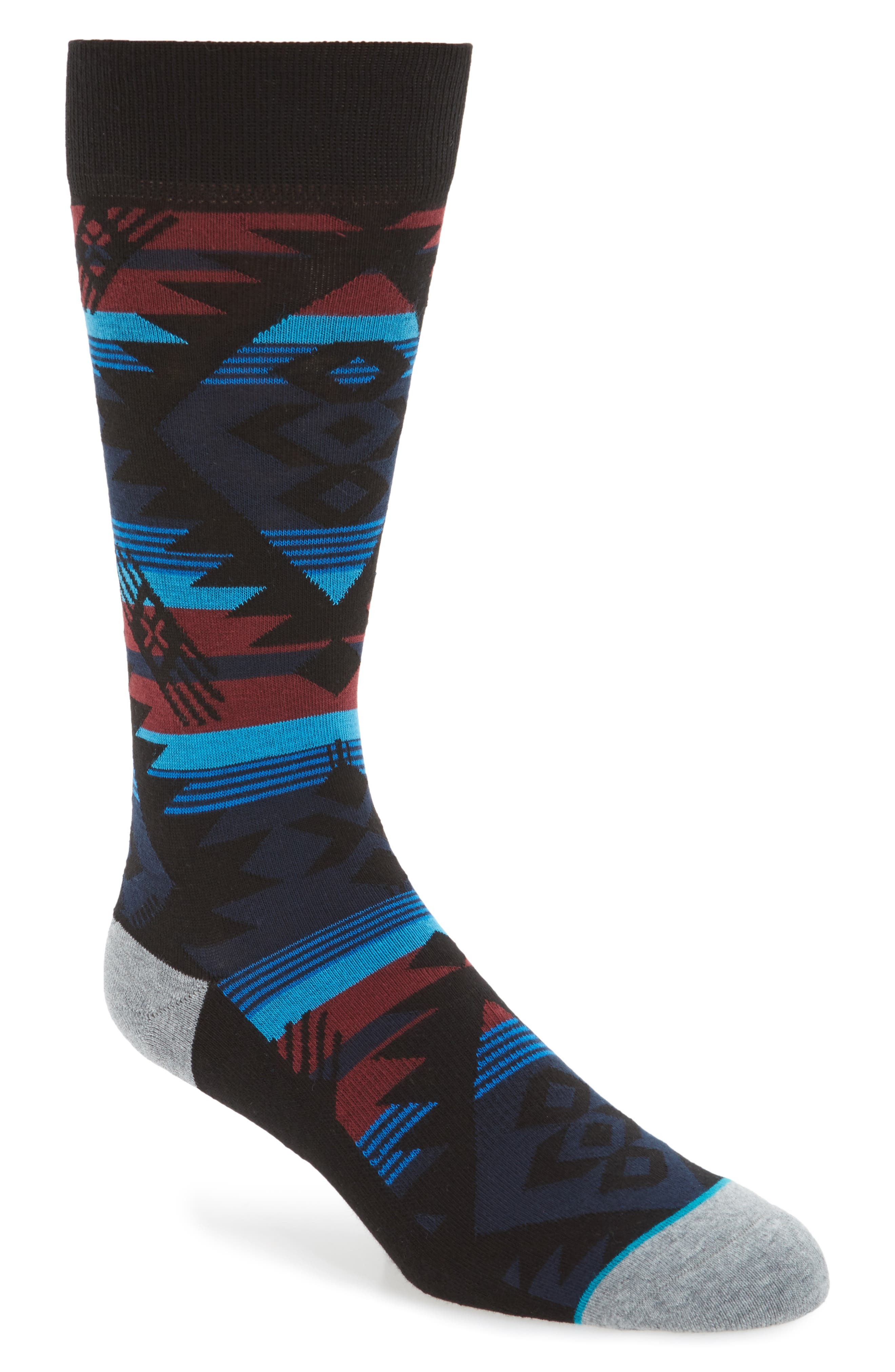 Geometric Socks,                             Main thumbnail 2, color,