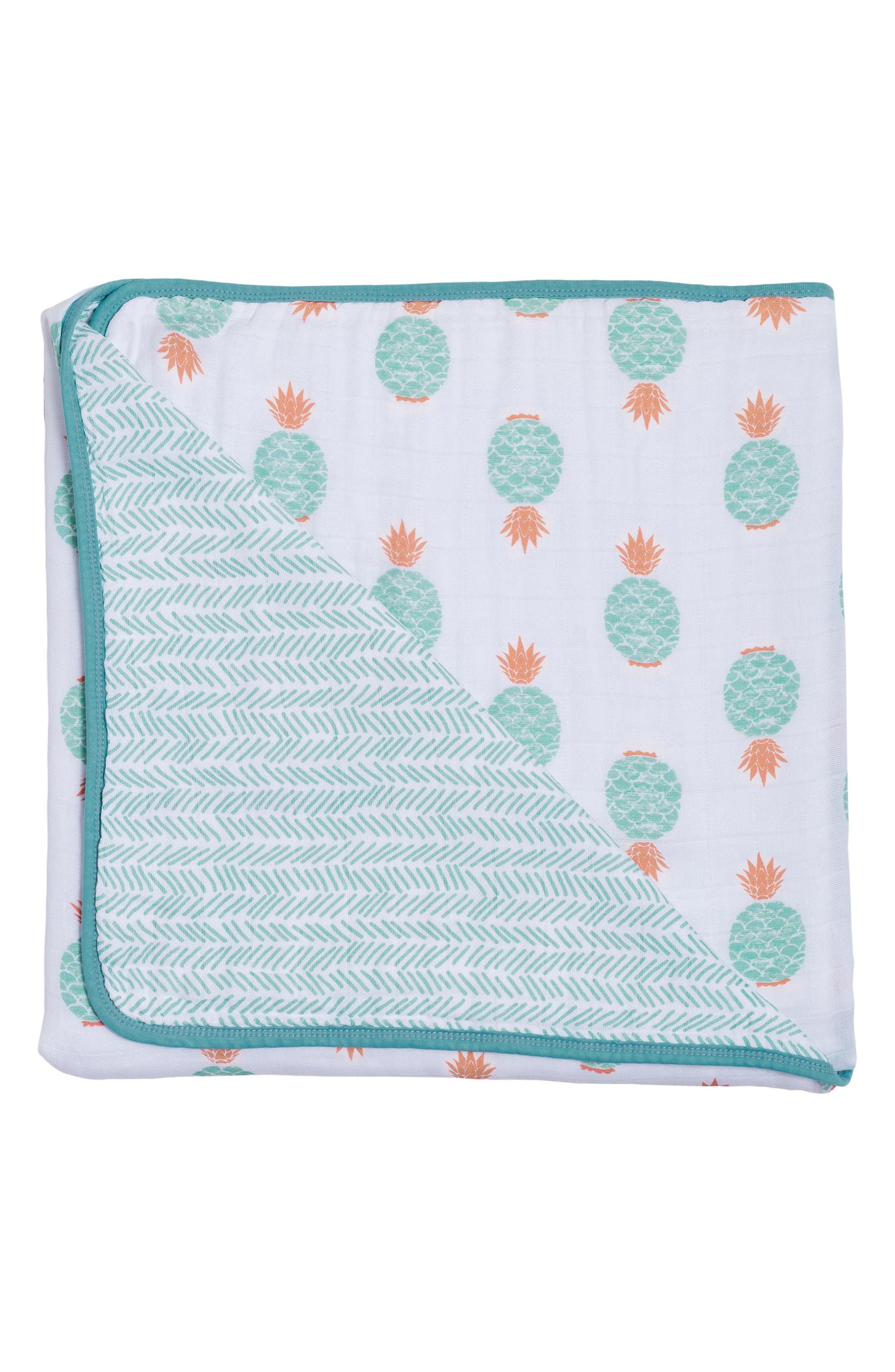 Cotton Muslin Blanket,                             Main thumbnail 1, color,                             340