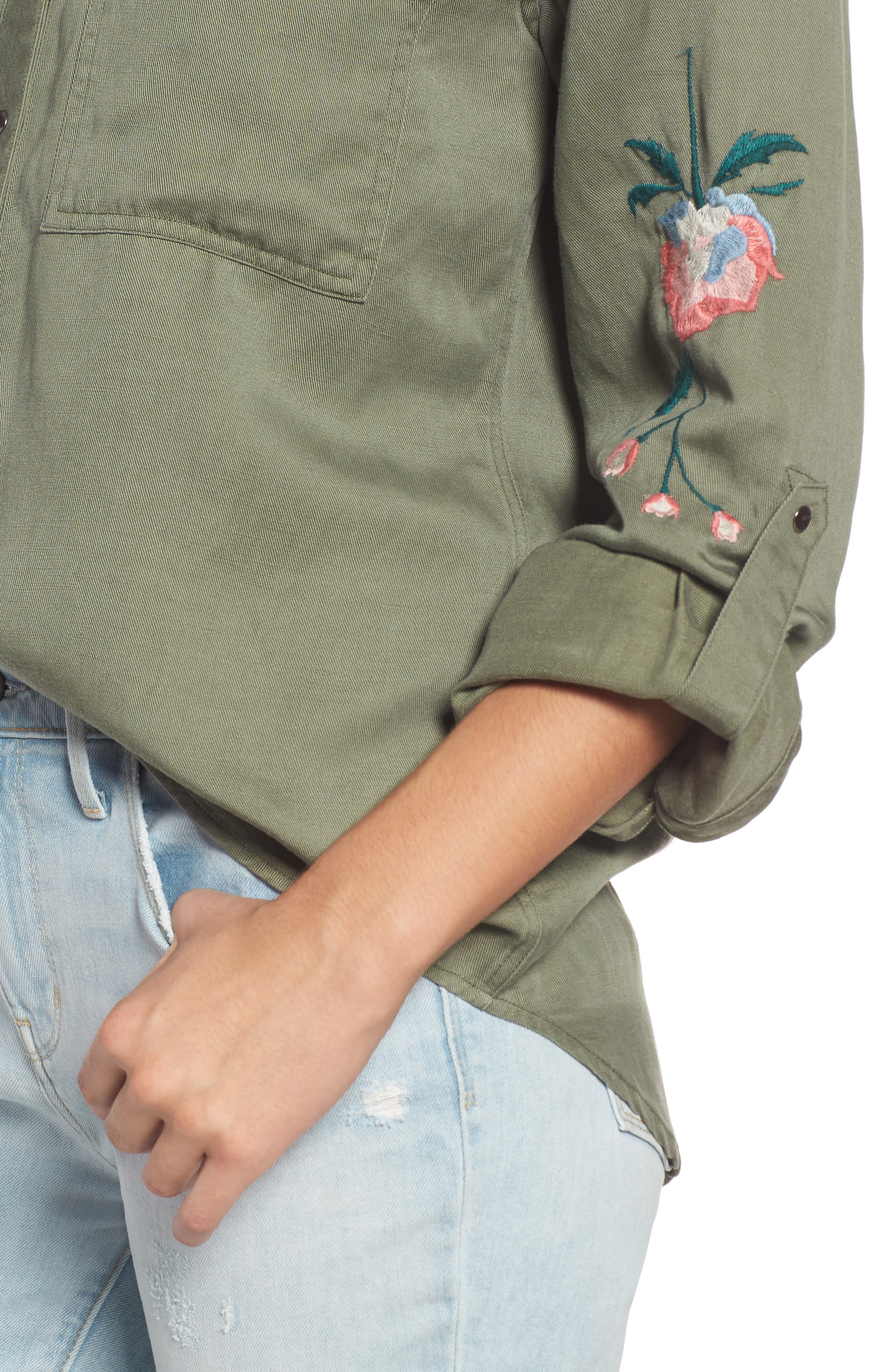 Channing Embroidered Military Shirt,                             Alternate thumbnail 4, color,                             307