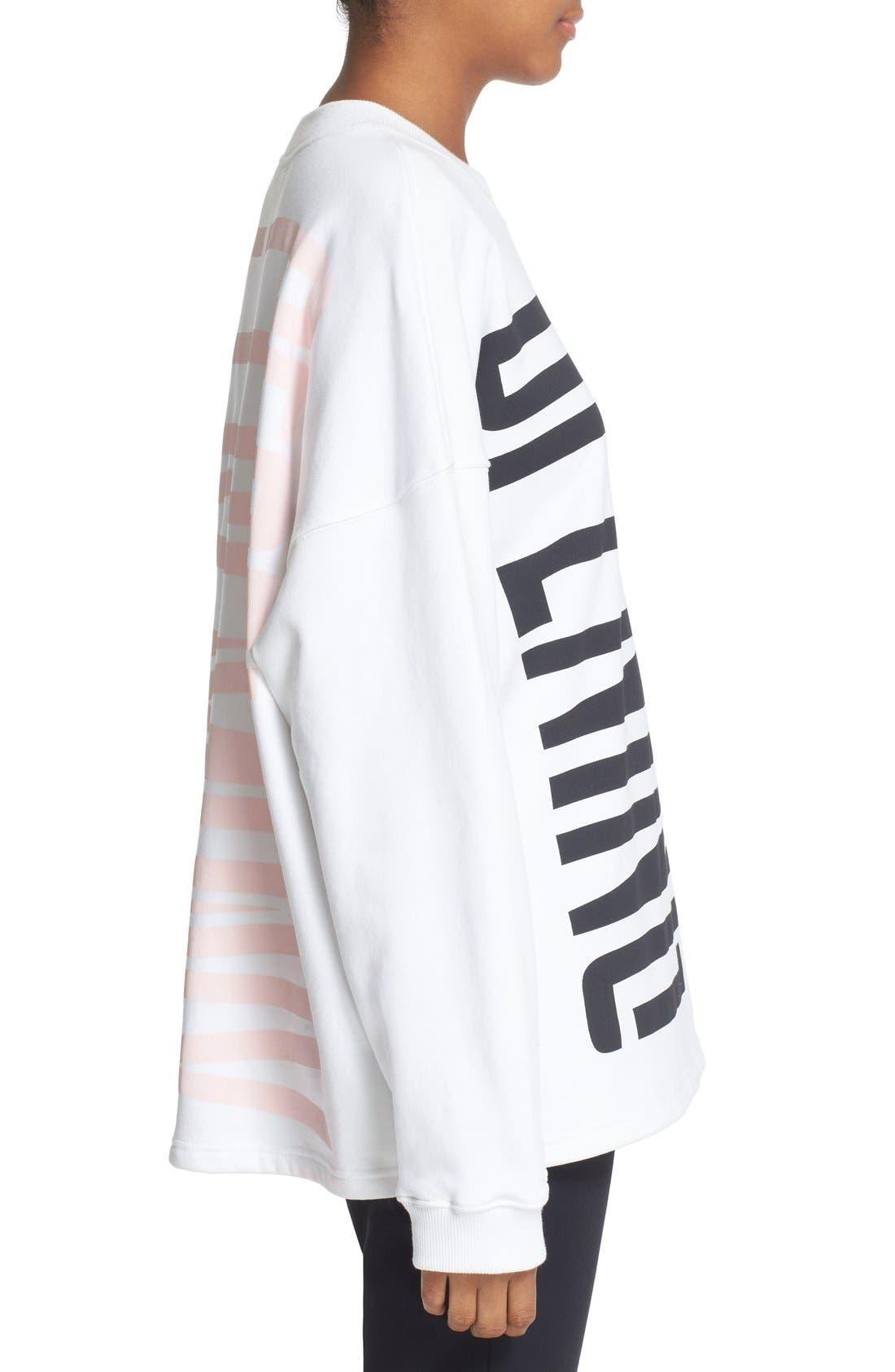 Graphic Cotton Sweatshirt,                             Alternate thumbnail 3, color,                             100