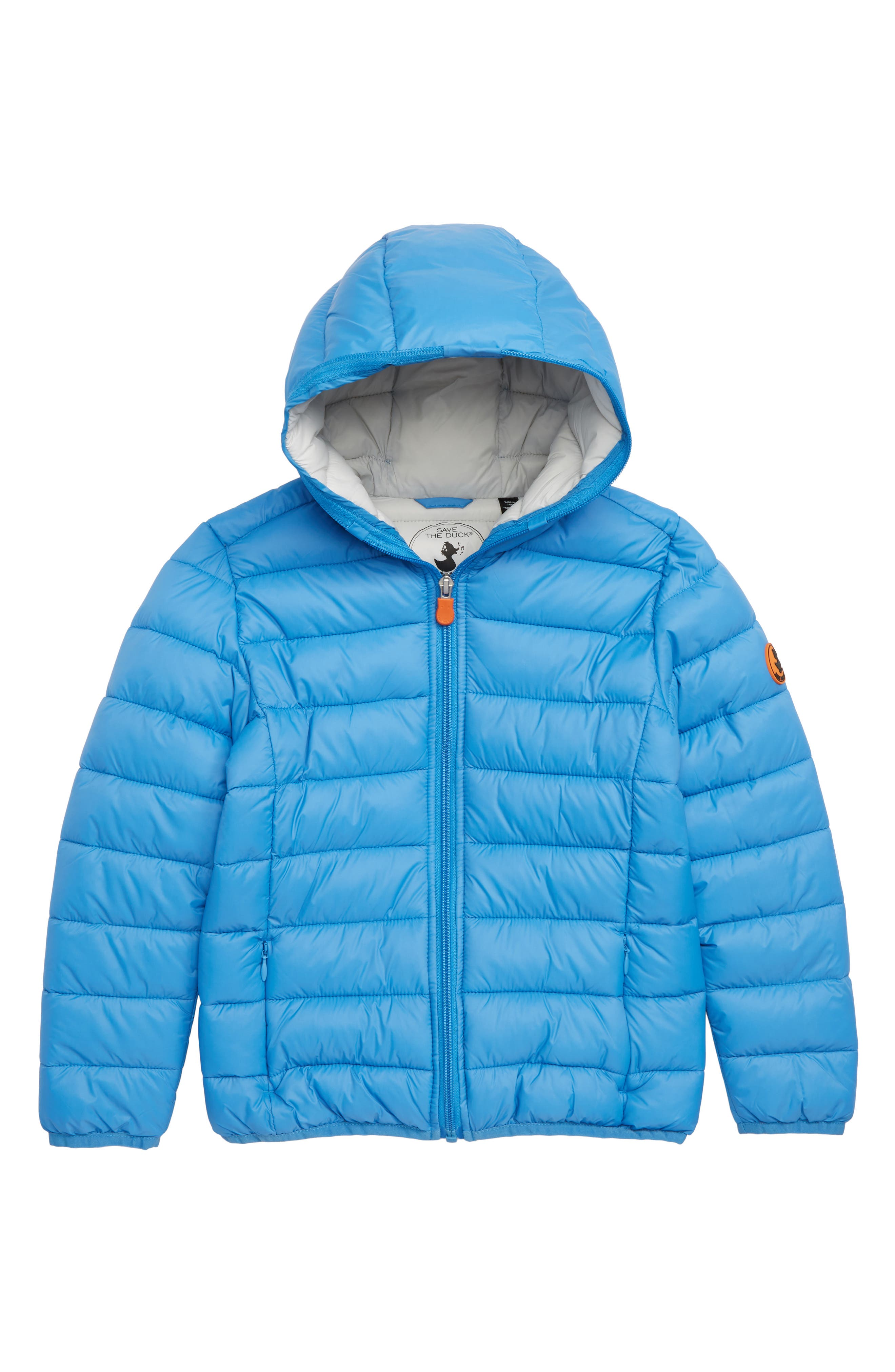 Water Resistant Hooded Jacket,                         Main,                         color, ICEBURG BLUE