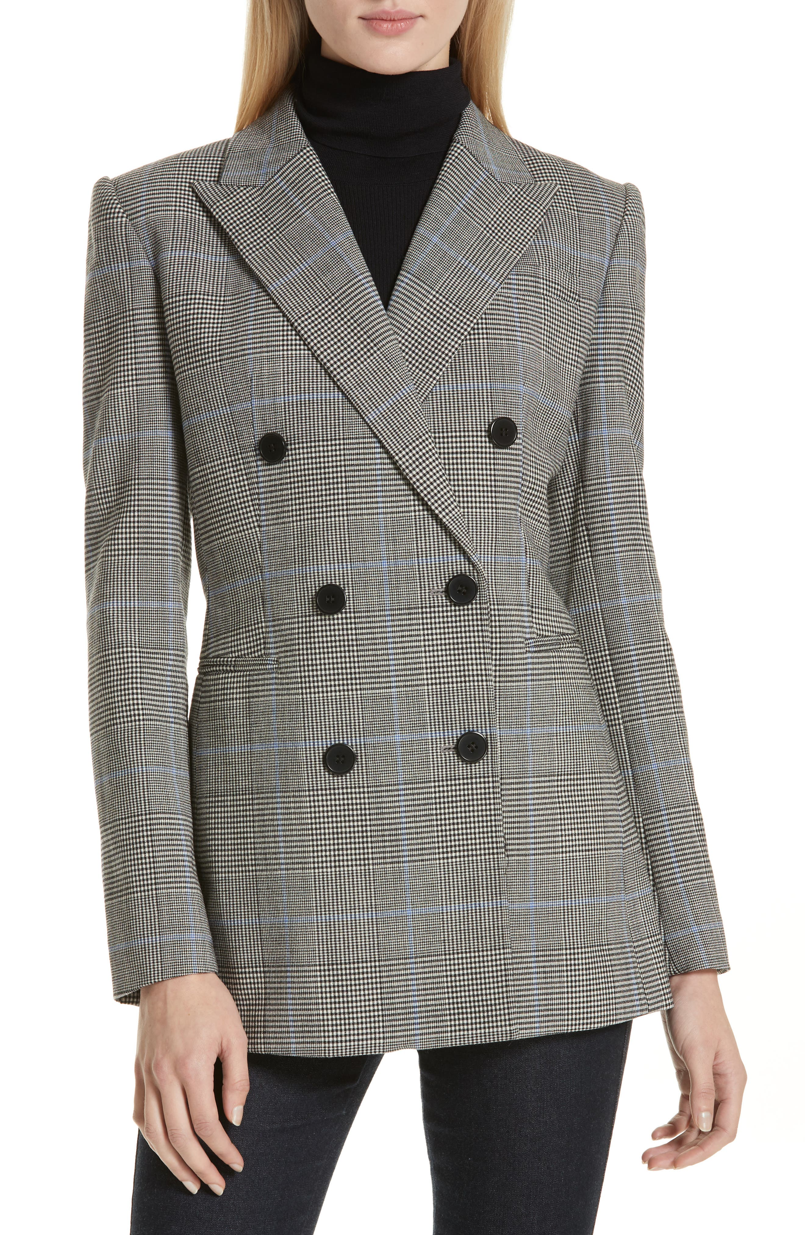 THEORY Portland Plaid Power Jacket, Main, color, 020