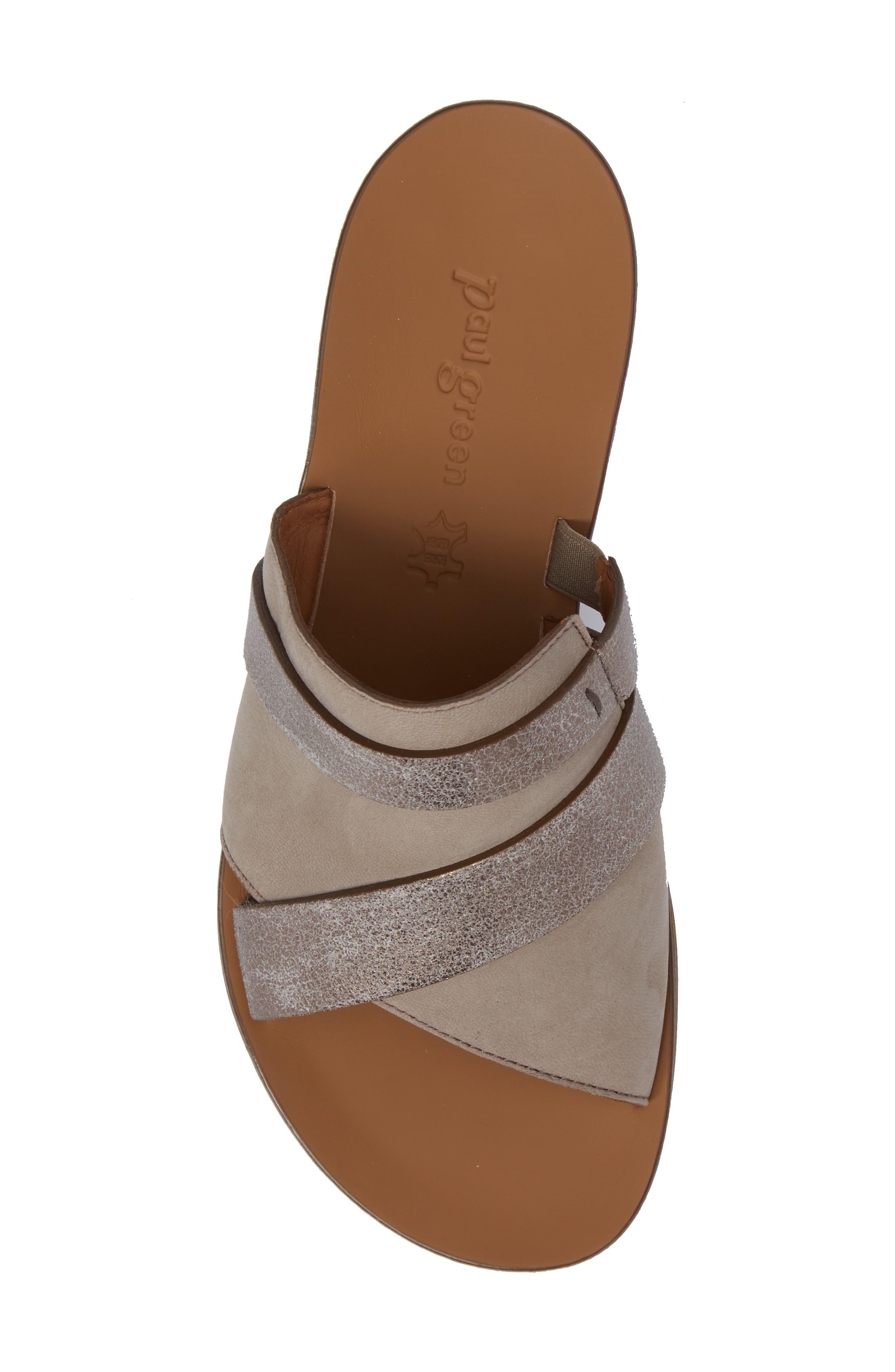 'Bayside' Leather Sandal,                             Alternate thumbnail 5, color,                             GREY