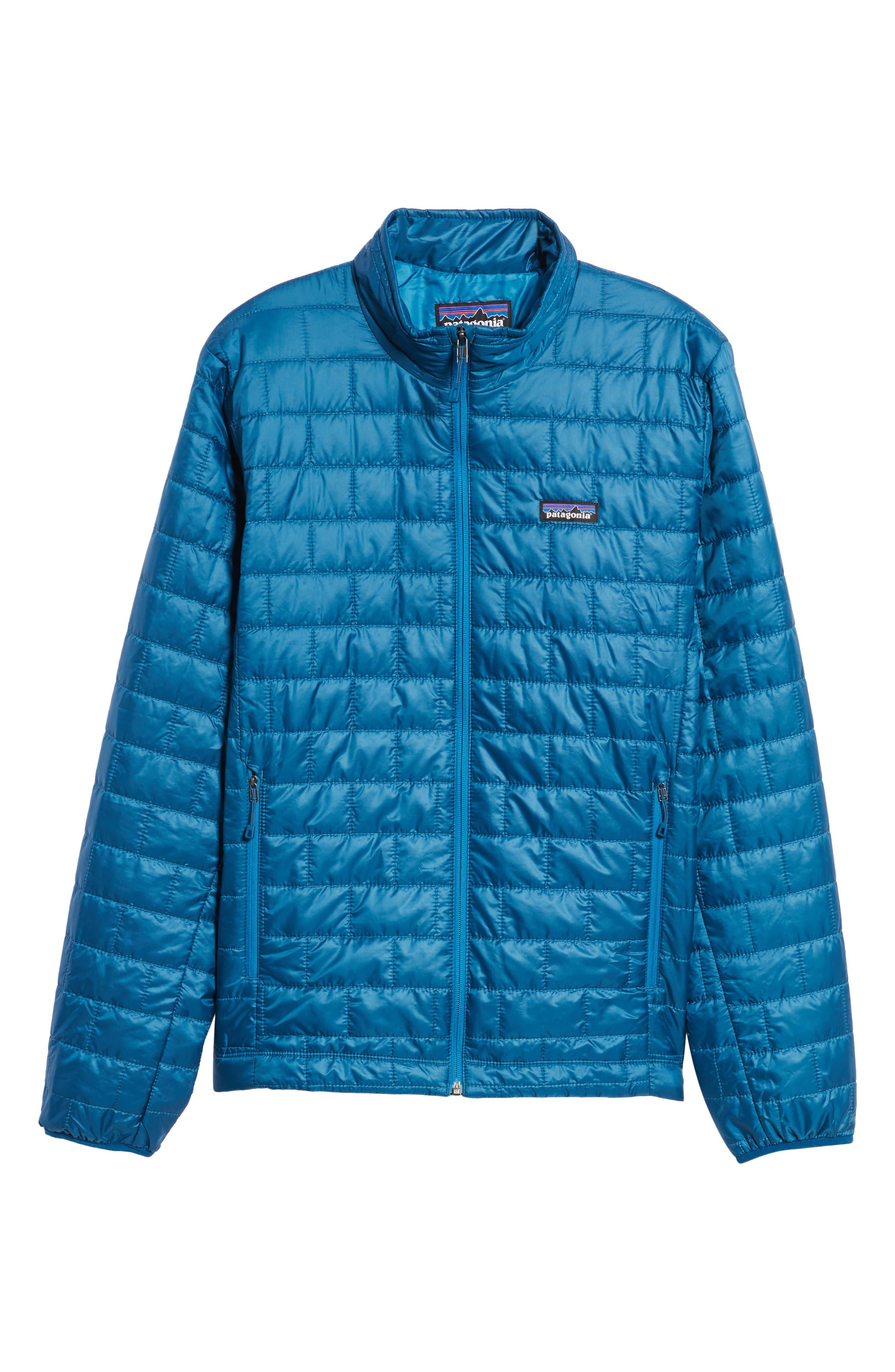 PATAGONIA,                             'Nano Puff<sup>®</sup>' Water Resistant Jacket,                             Alternate thumbnail 6, color,                             BIG SUR BLUE W/ BALKAN BLUE