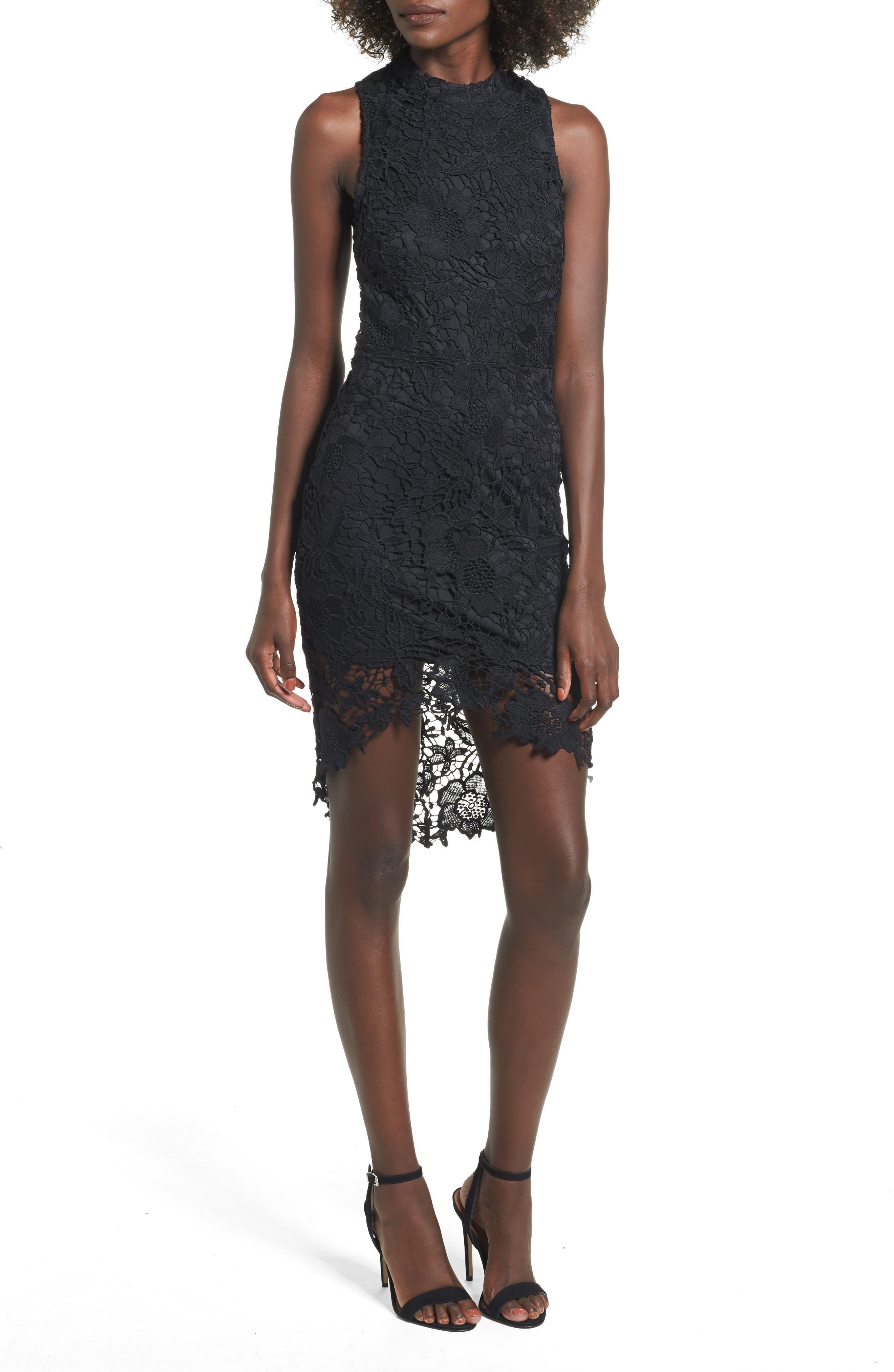 'Samantha' Lace Dress,                         Main,                         color, 001