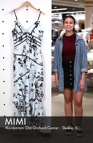 Floral Print Ruffle Gown, sales video thumbnail