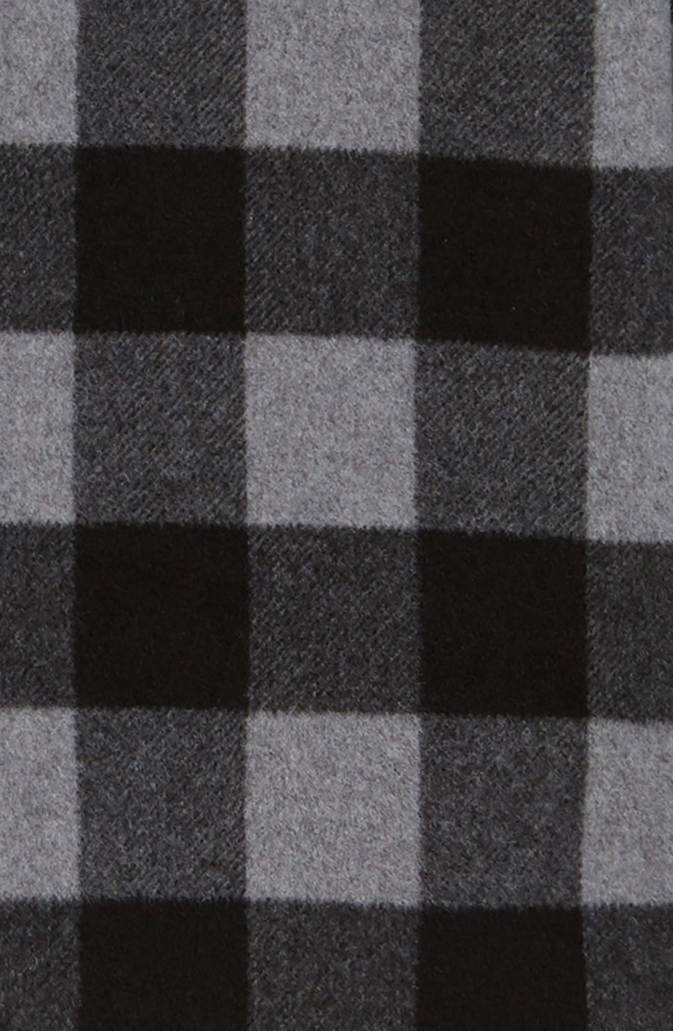Anchor Line Flannel Shirt Jacket,                             Alternate thumbnail 6, color,                             MEDIUM GREY