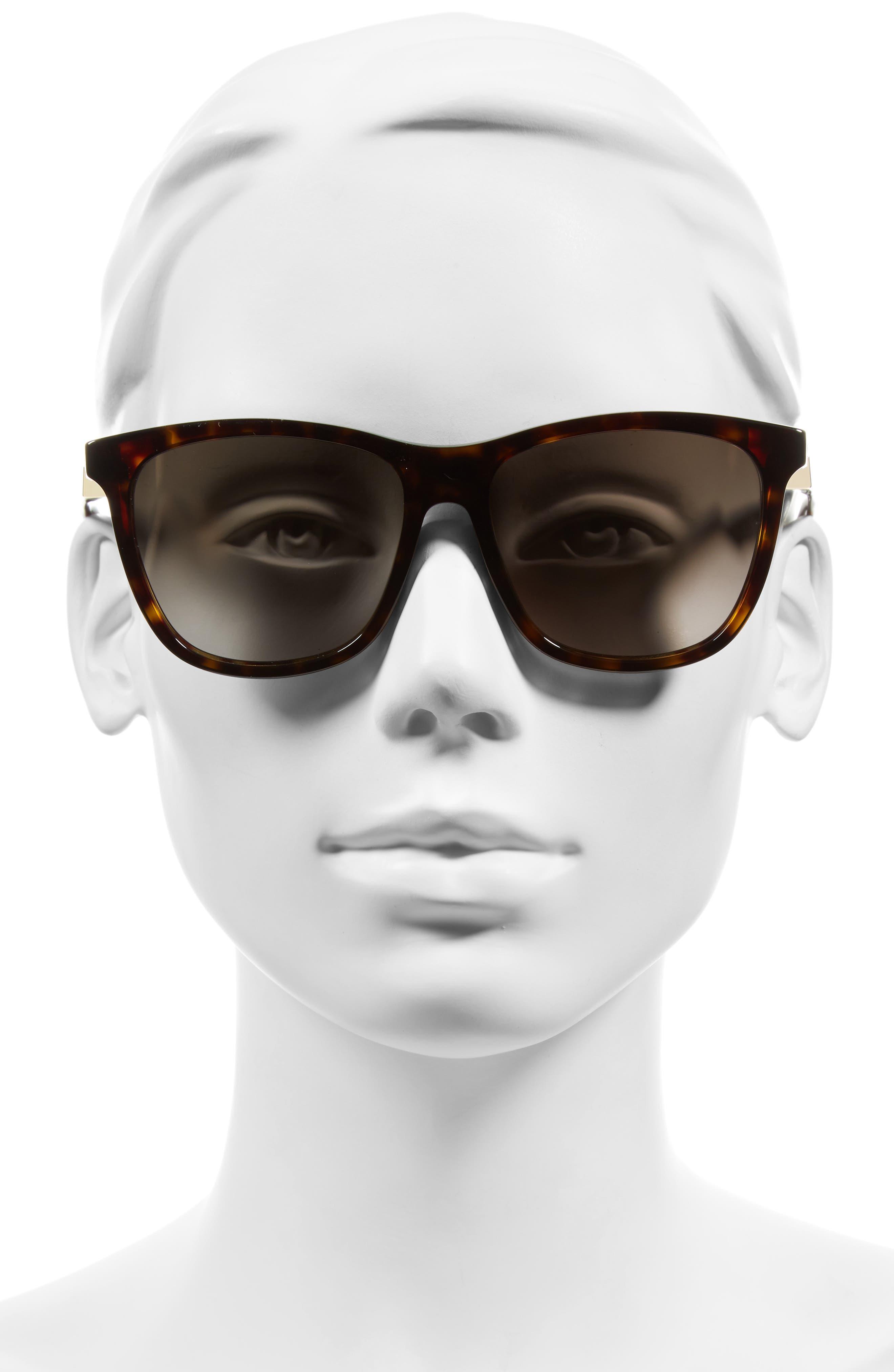 55mm Cube Retro Sunglasses,                             Alternate thumbnail 6, color,