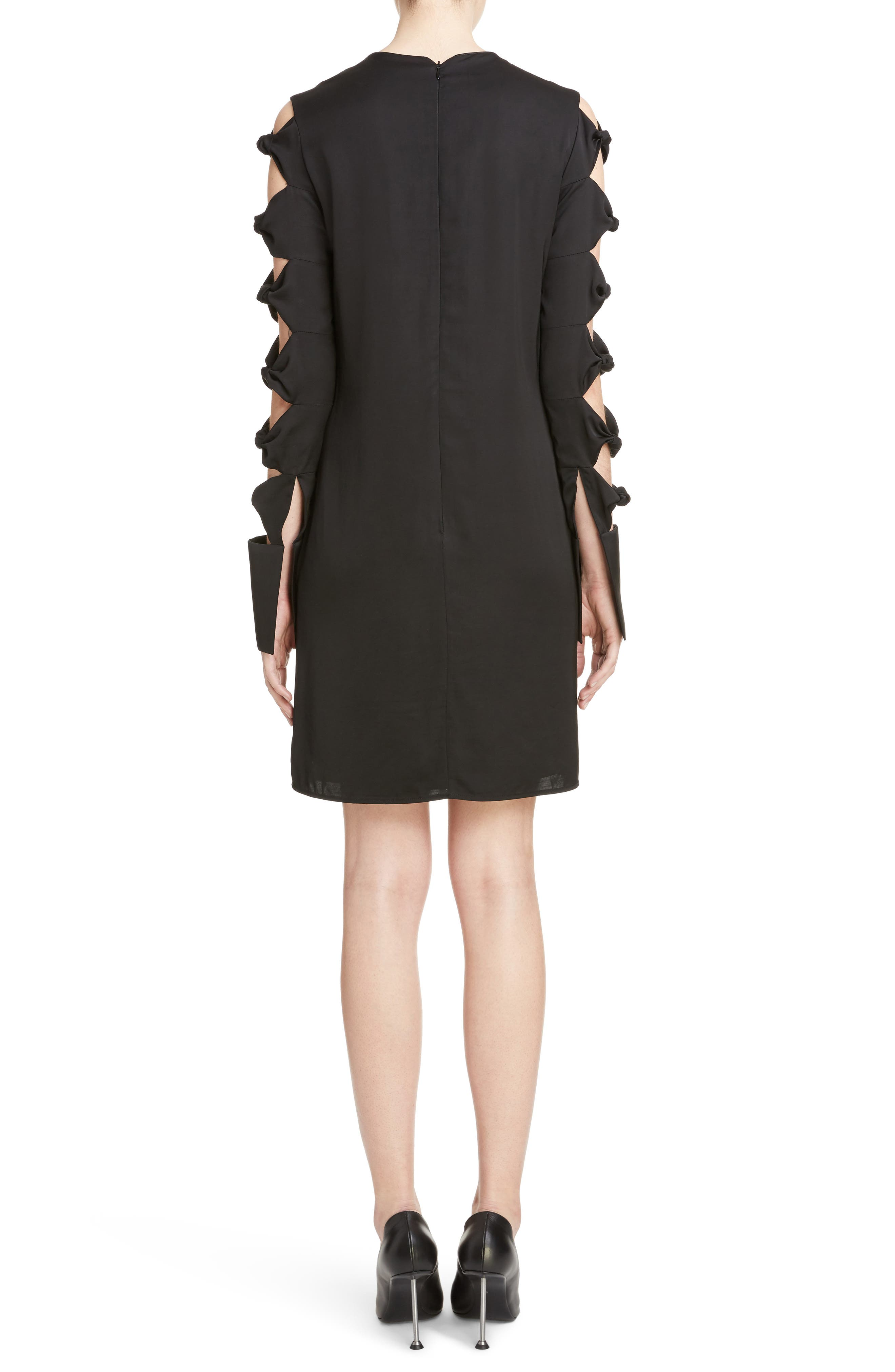 Knotted Sleeve Dress,                             Alternate thumbnail 2, color,                             001