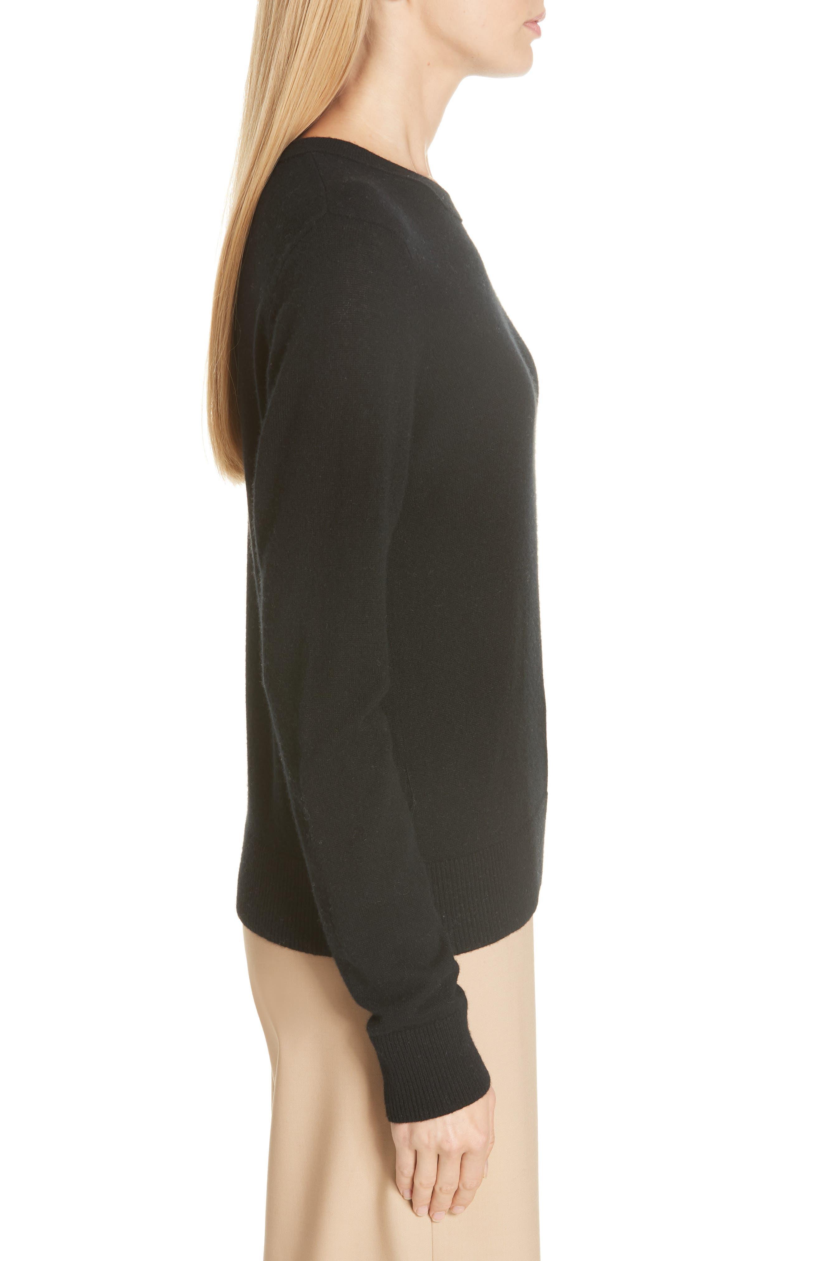 Cashmere Sweater,                             Alternate thumbnail 3, color,                             BLACK