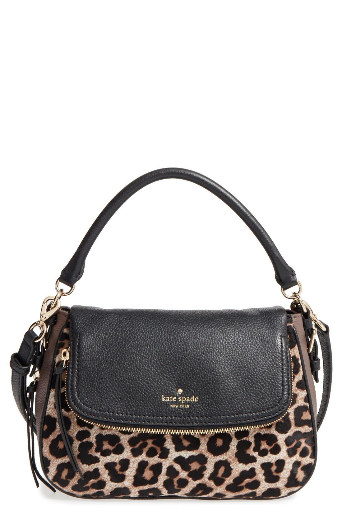 cobble hill - deva leather crossbody bag,                             Main thumbnail 4, color,