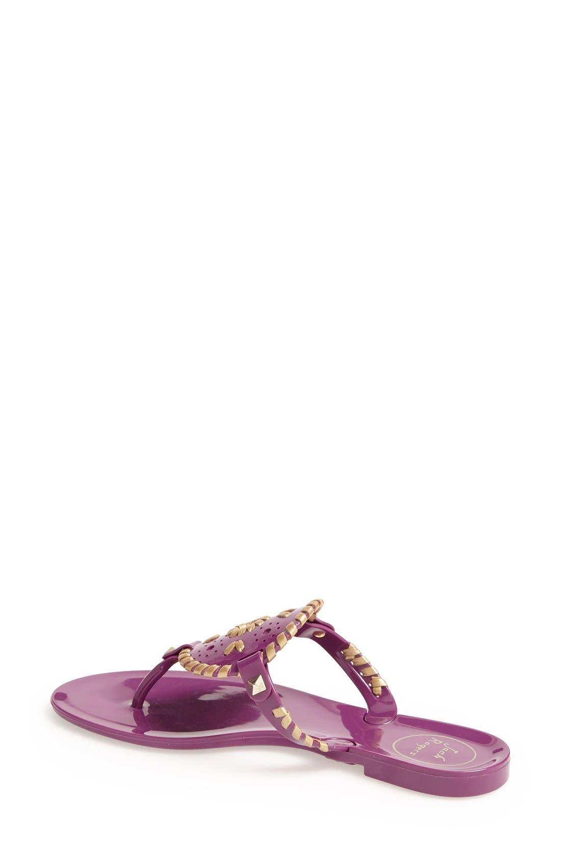 'Georgica' Jelly Flip Flop,                             Alternate thumbnail 116, color,