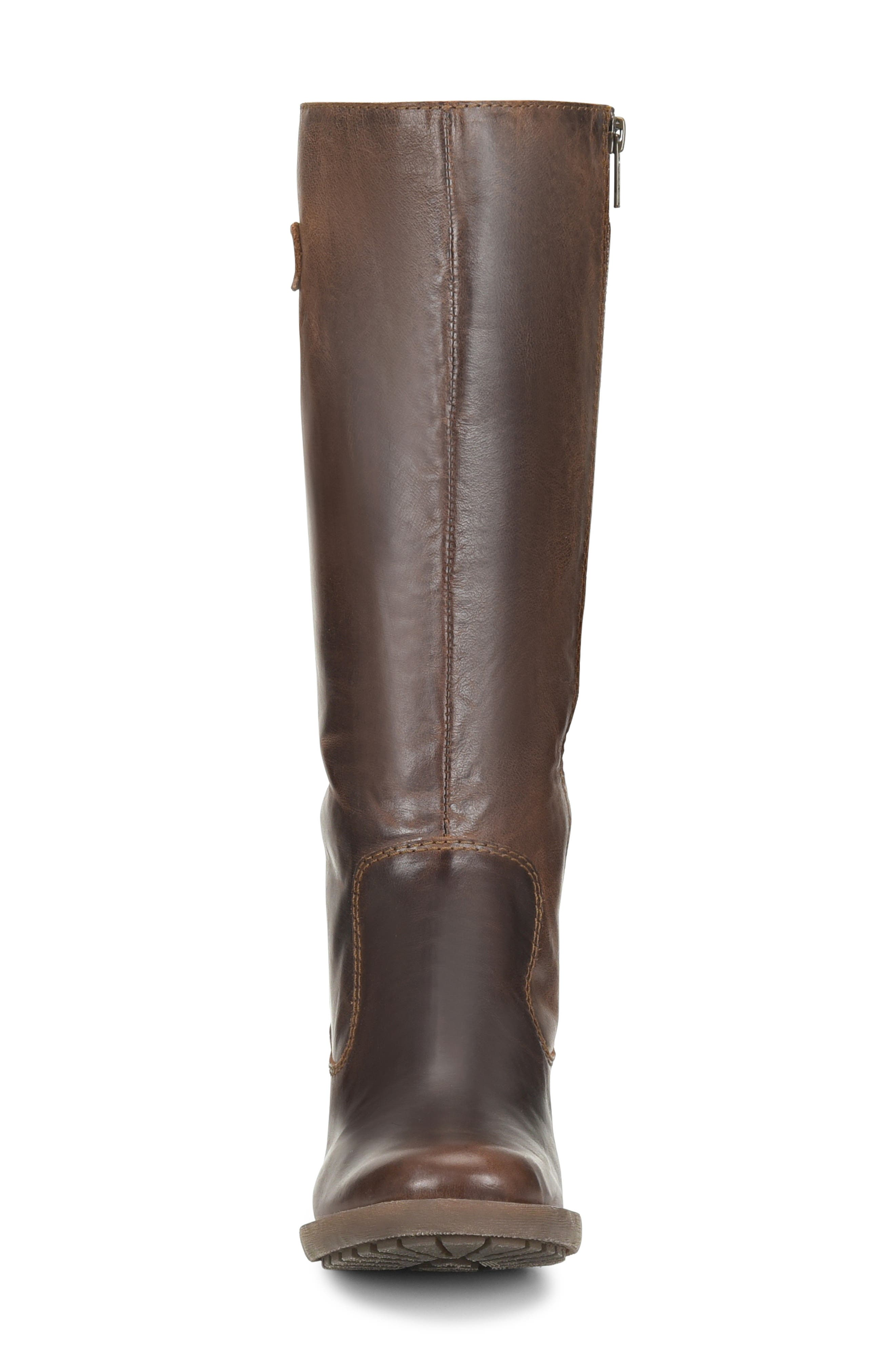 Knute Tall Boot,                             Alternate thumbnail 4, color,                             LIGHT BROWN LEATHER