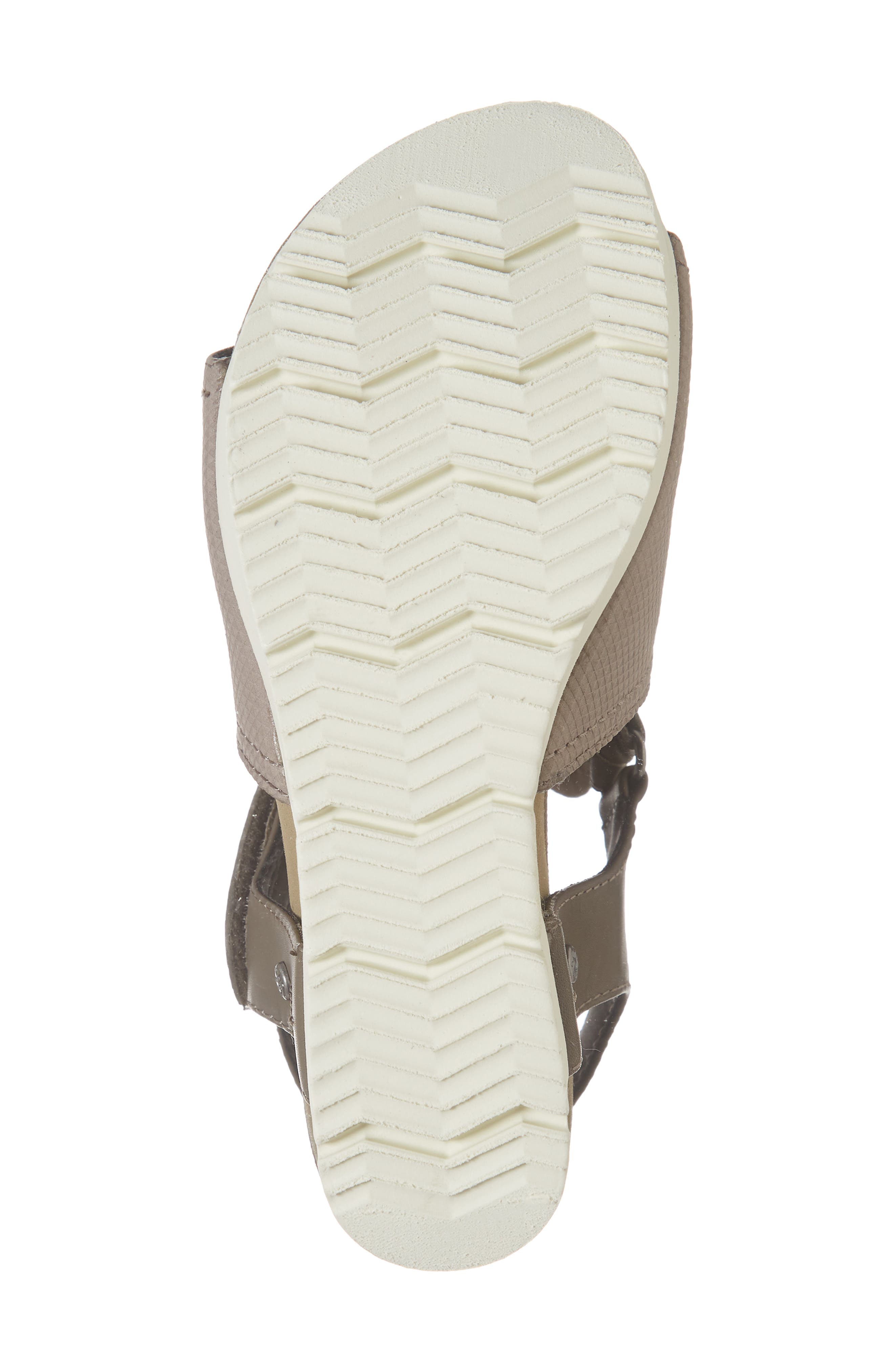 Waypoint Wedge Sandal,                             Alternate thumbnail 6, color,                             CACAO LEATHER