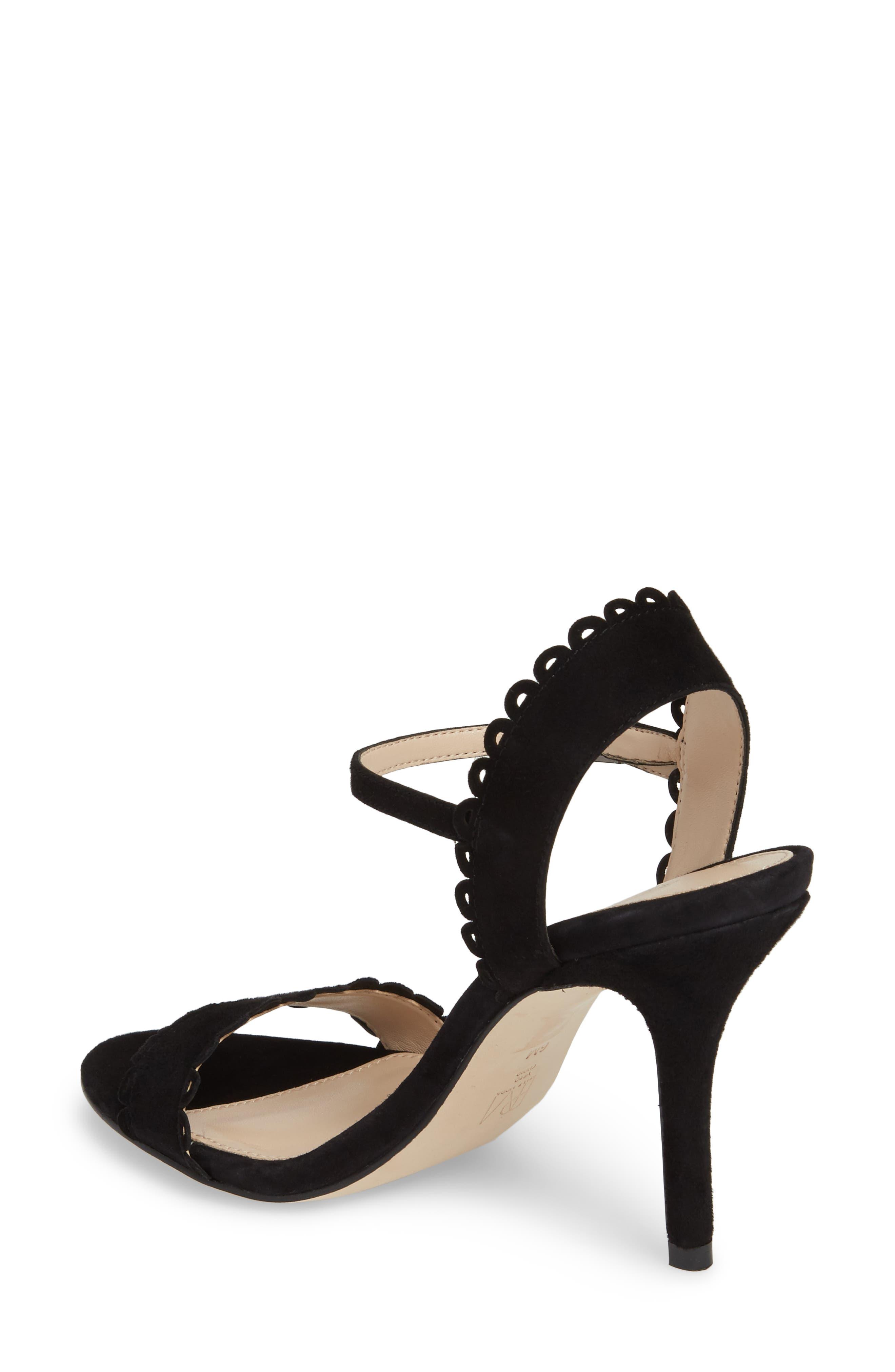 Karen Scallop Ankle Strap Sandal,                             Alternate thumbnail 4, color,