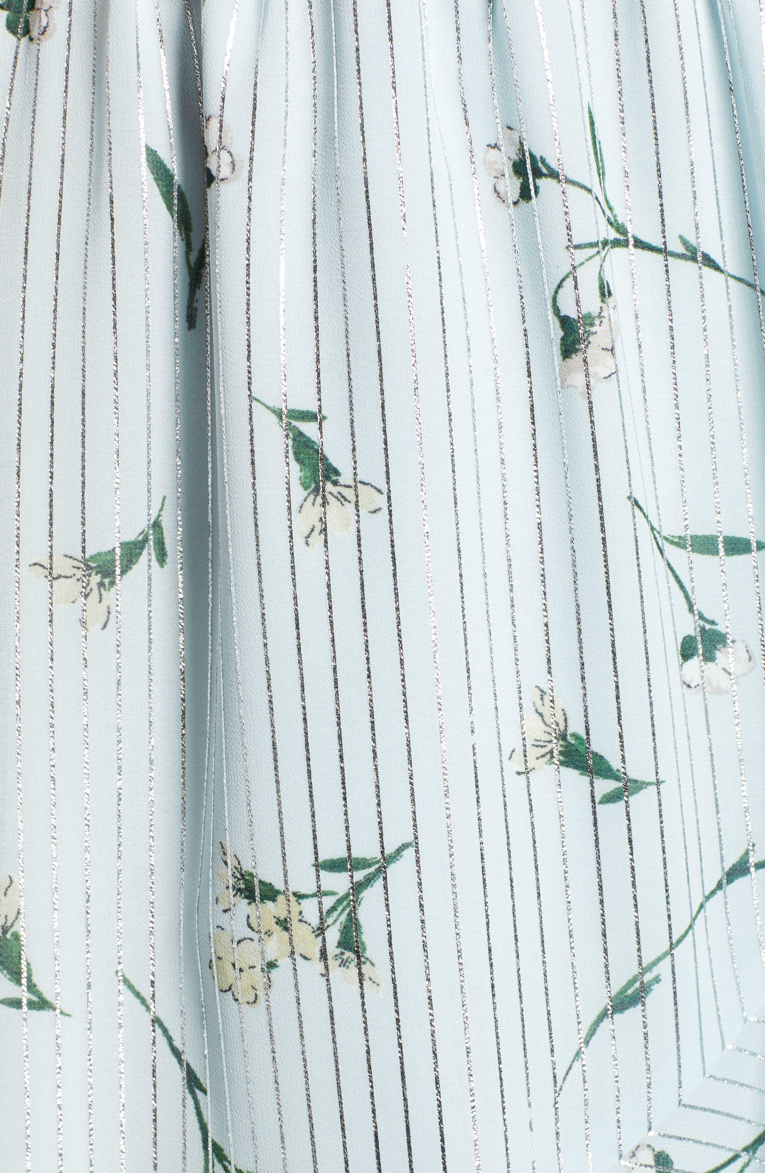 Sutton Wrap Dress,                             Alternate thumbnail 6, color,                             SKY BLUE FLORAL